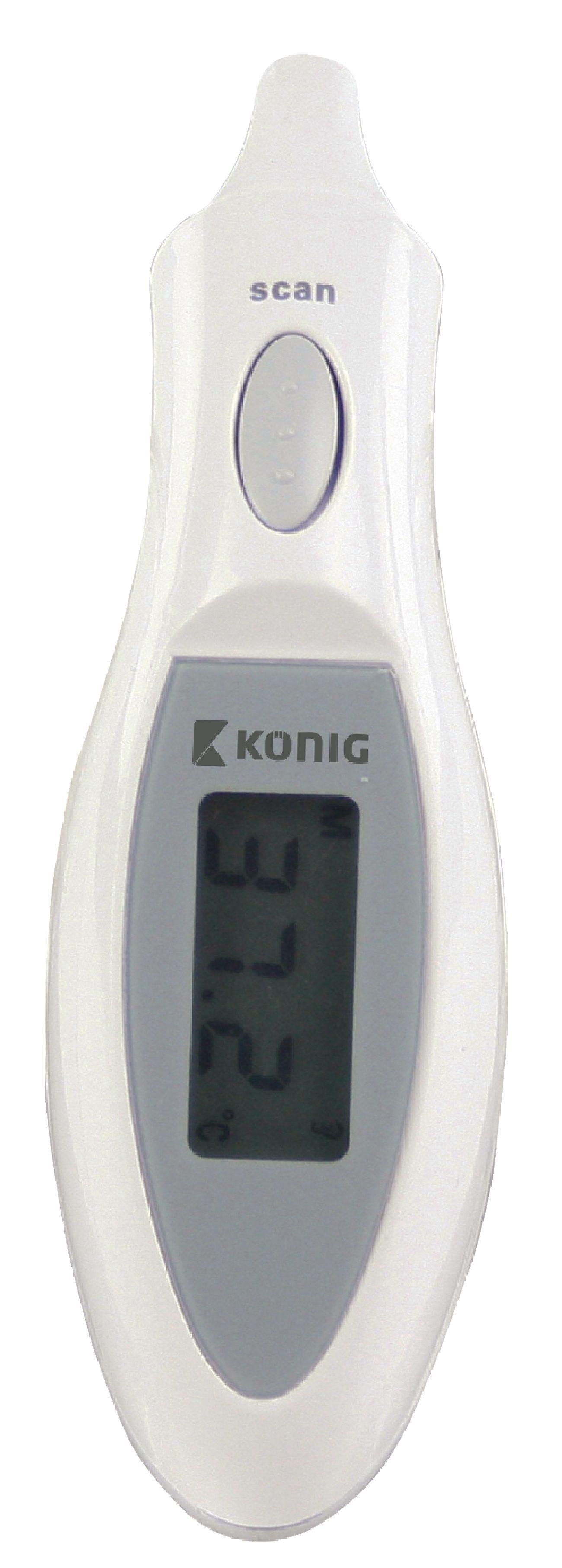 Digitální osobní infračervený teploměr König HC-EARTHERM60N