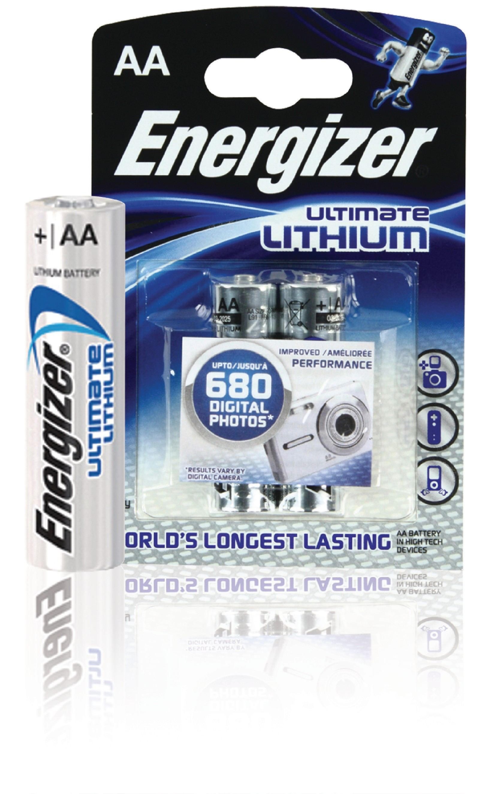 Lithiová baterie Energizer Ultimate AA 1.5V, 2ks, ENLITHIUMAAP2