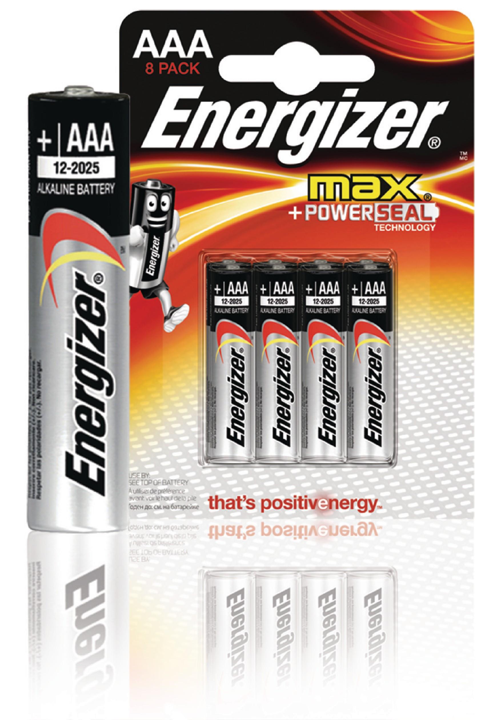 Alkalická baterie Energizer Max AAA 1.5V, 8ks, EN-53541022800