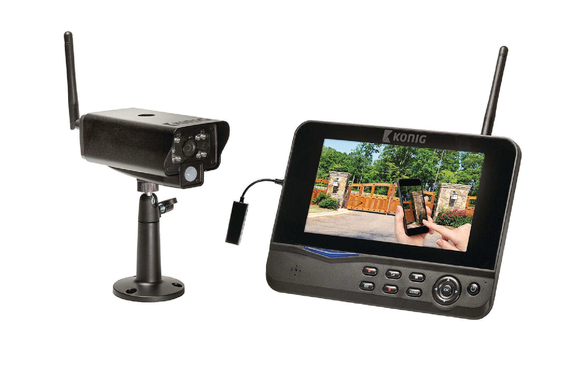 """Digitální 2.4 Ghz systém kamera + 7"""" LCD s připojením k síti"""