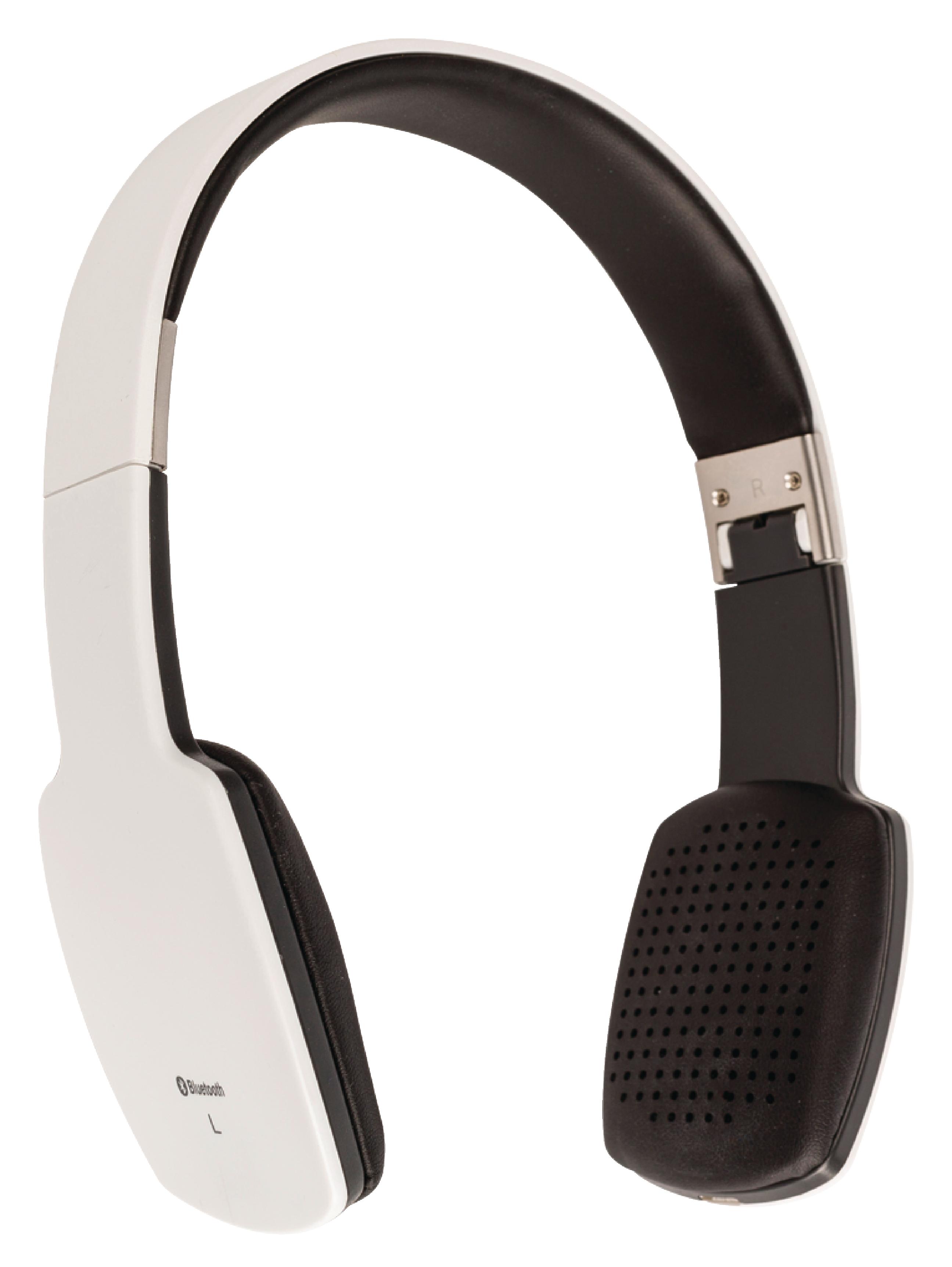 Bluetooth bezdrátová sluchátka bílá König CSBTHS100WH