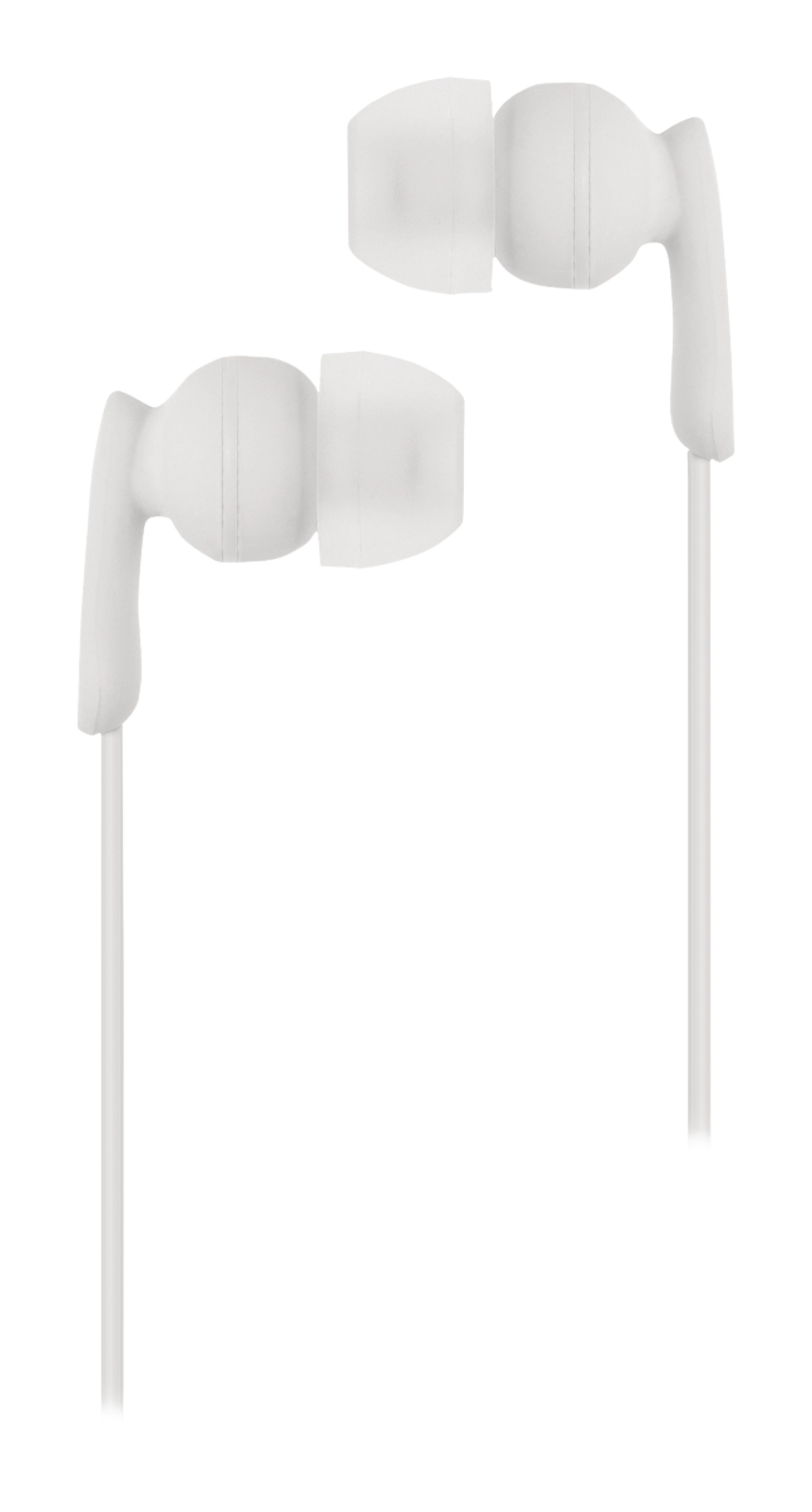 Sluchátka do uší s mikrofonem bílá, König CSHSIER100WH