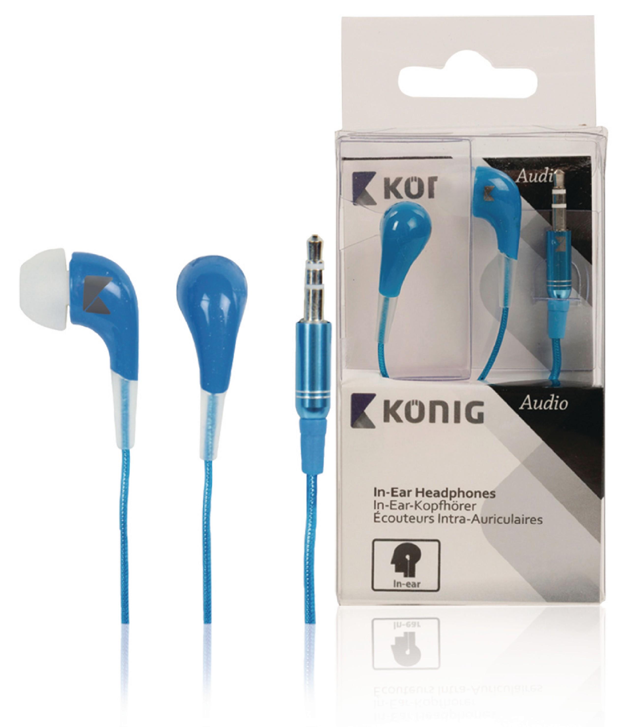 Sluchátka do uší König CSHPIER100, modrá