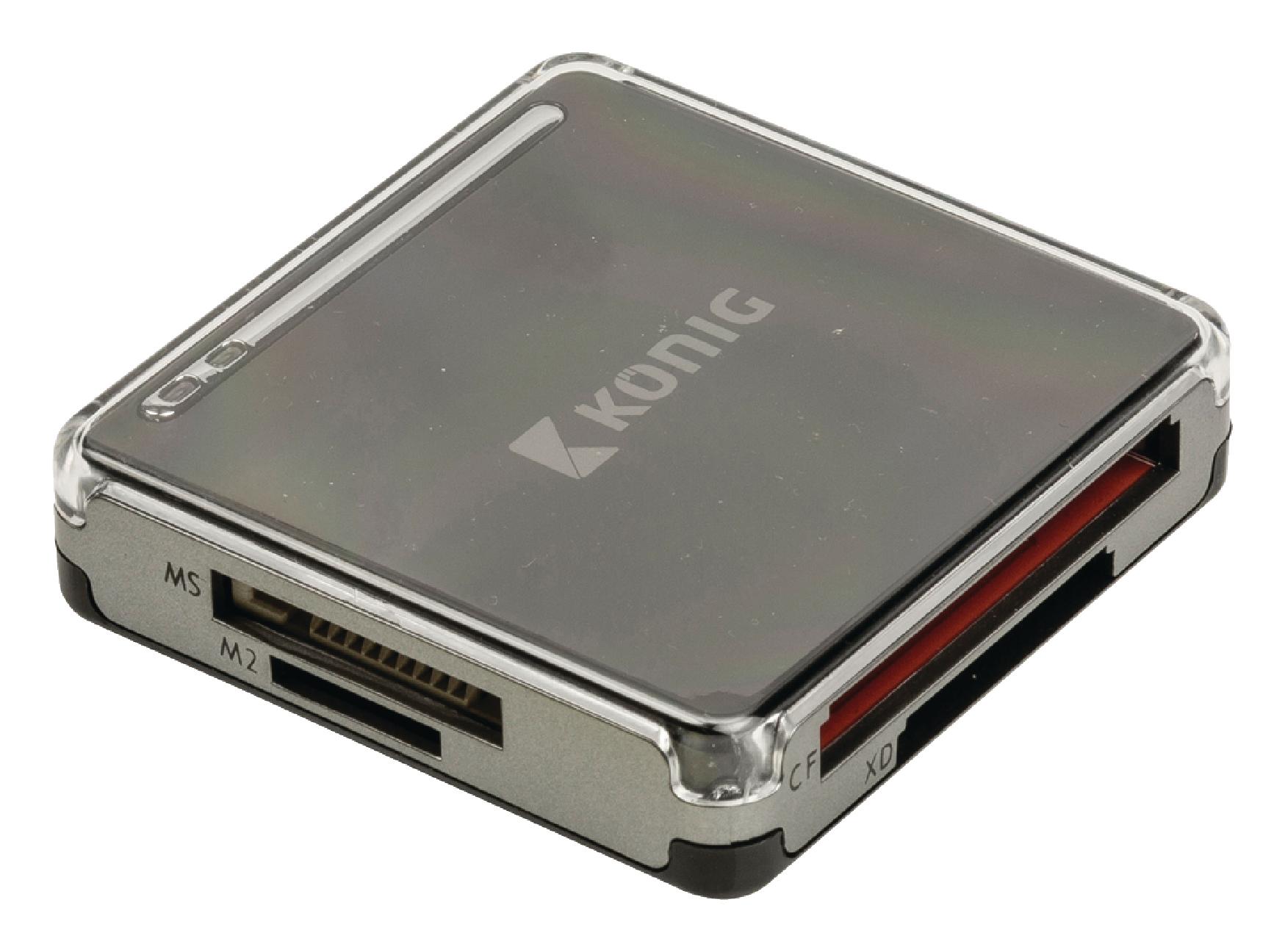 Čtečka paměťových karet multiformátová USB 2.0, König CSU2ACR100Br