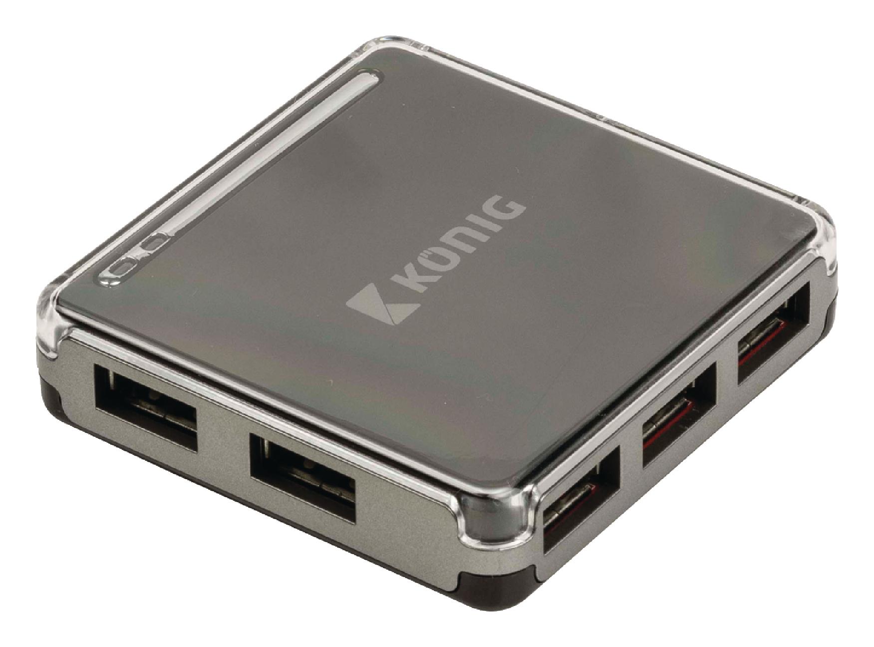 König externí sedmiportový USB 2.0 HUB CSU2H7P100BL