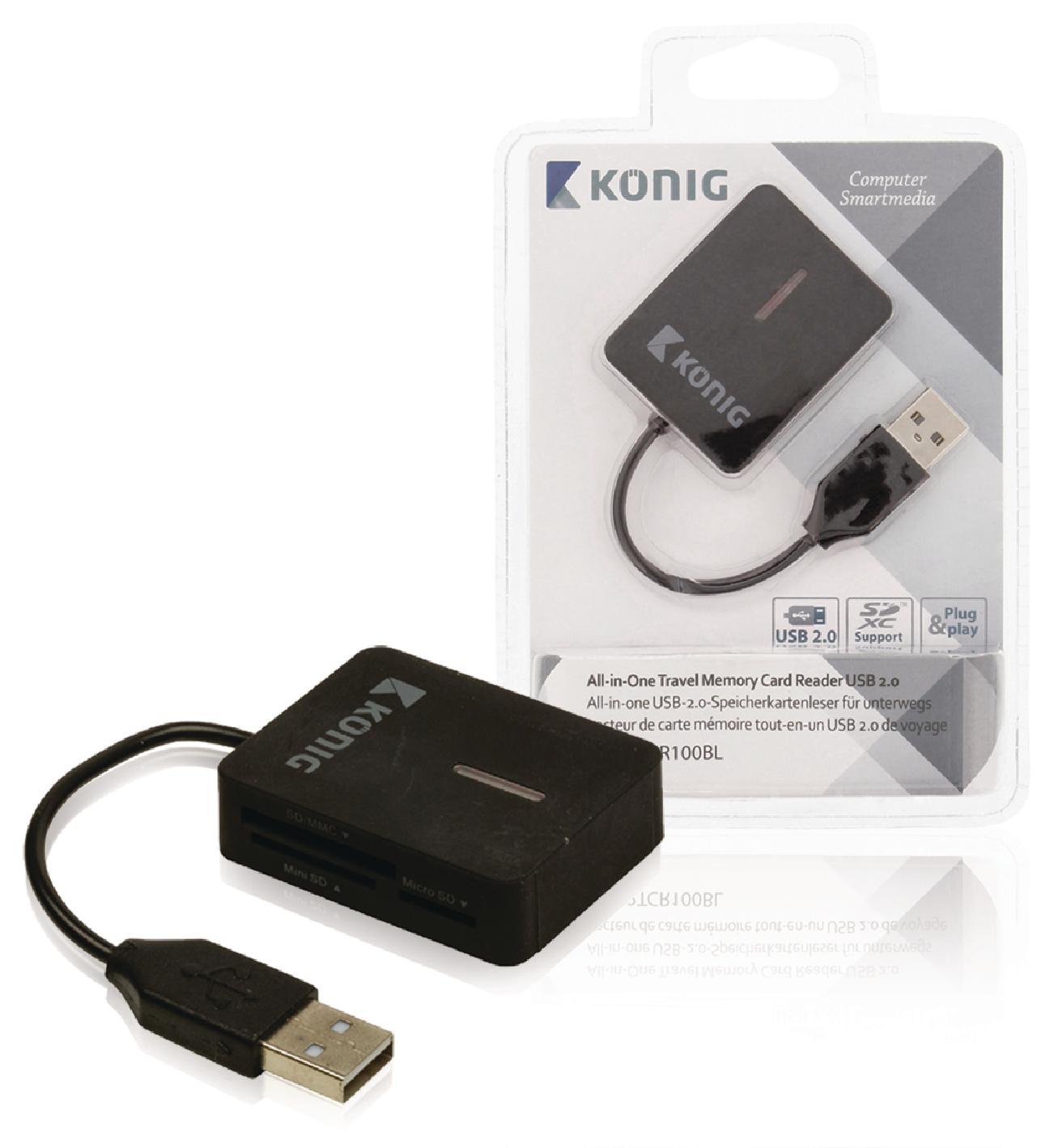 Čtečka Paměťových Karet Více karet USB 2.0 Černá