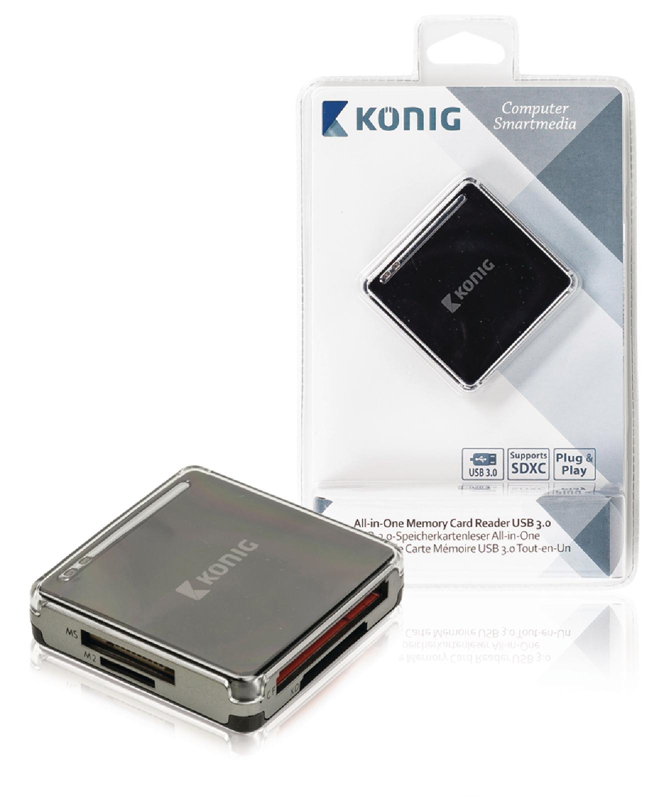 Čtečka Paměťových Karet Vše v Jednom USB 3.0 Černá
