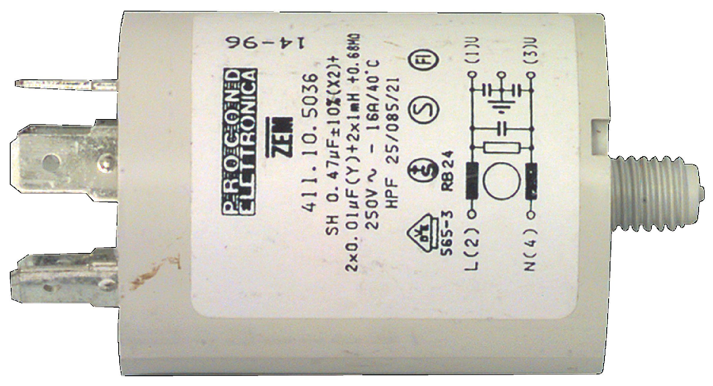 Kondenzátor rozběhový 0.47uf / 450 V + zem