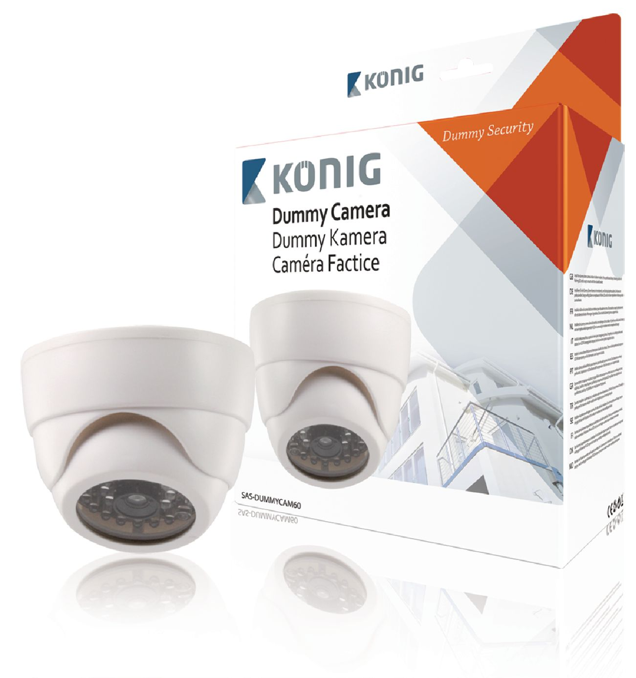 Atrapa interiérové bezpečnostní CCTV natáčecí DOME kamery.