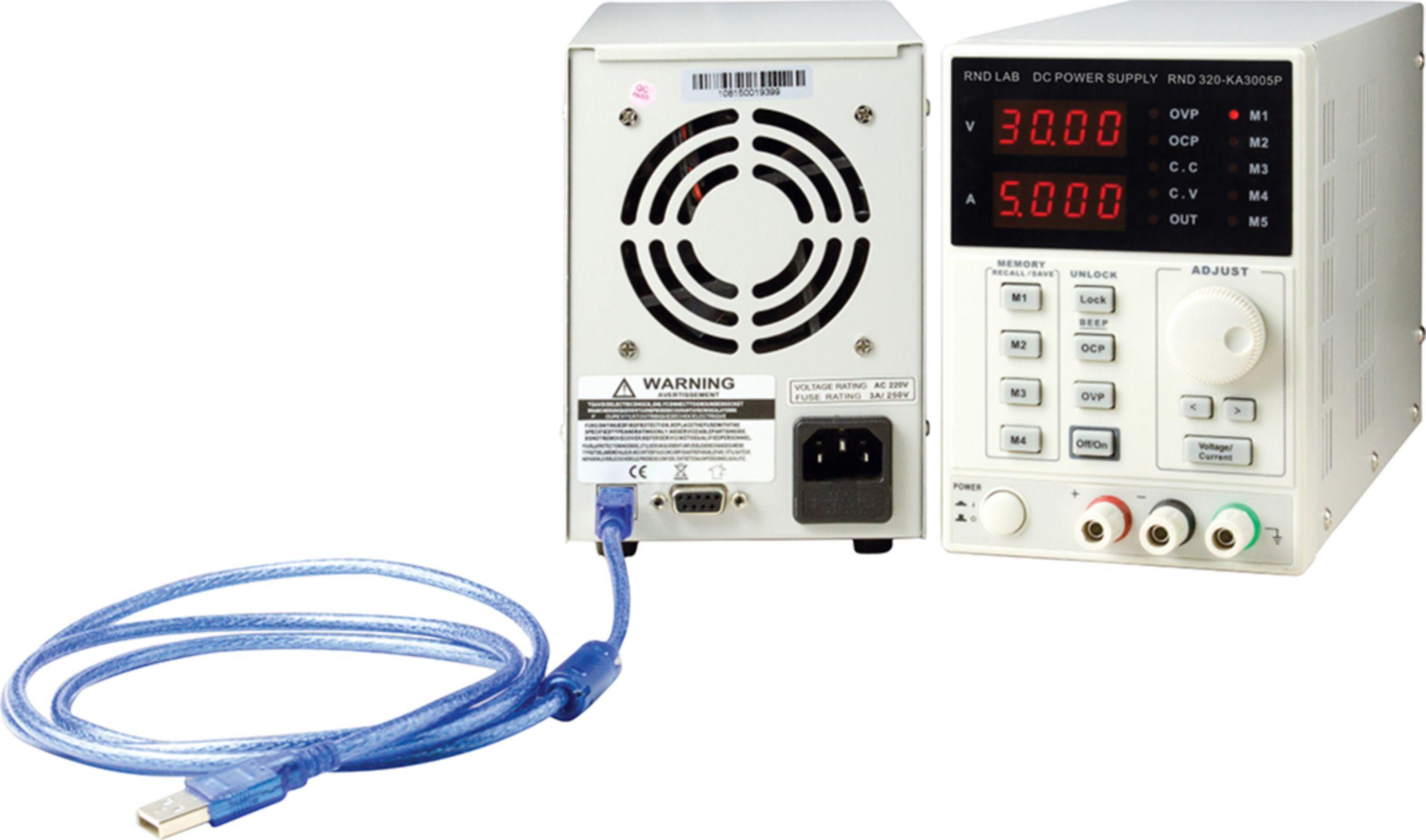 Programovatelný laboratorní napájecí zdroj, 4 pam.,1 kanál, 0÷30 VDC, 0÷5 A