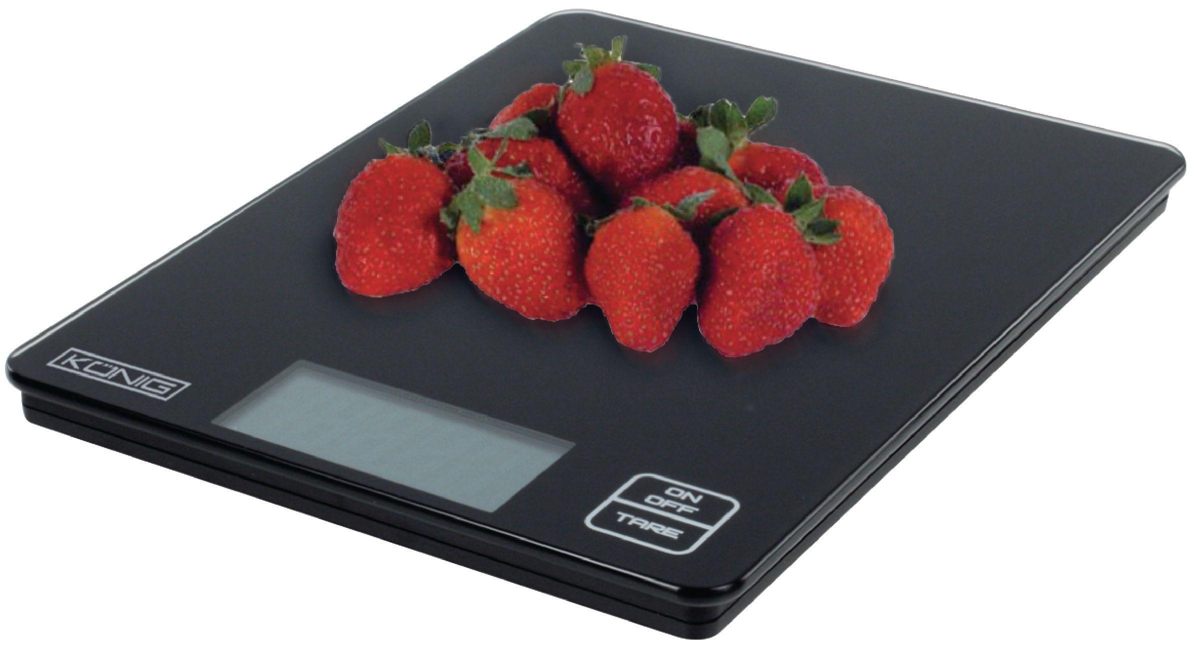 Kuchyňská digitální skleněná váha černá König, HC-KS12N
