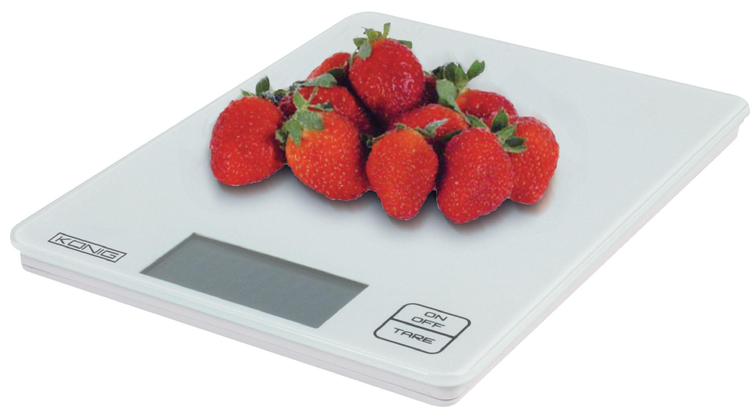 Kuchyňská digitální skleněná váha bílá König, HC-KS13N