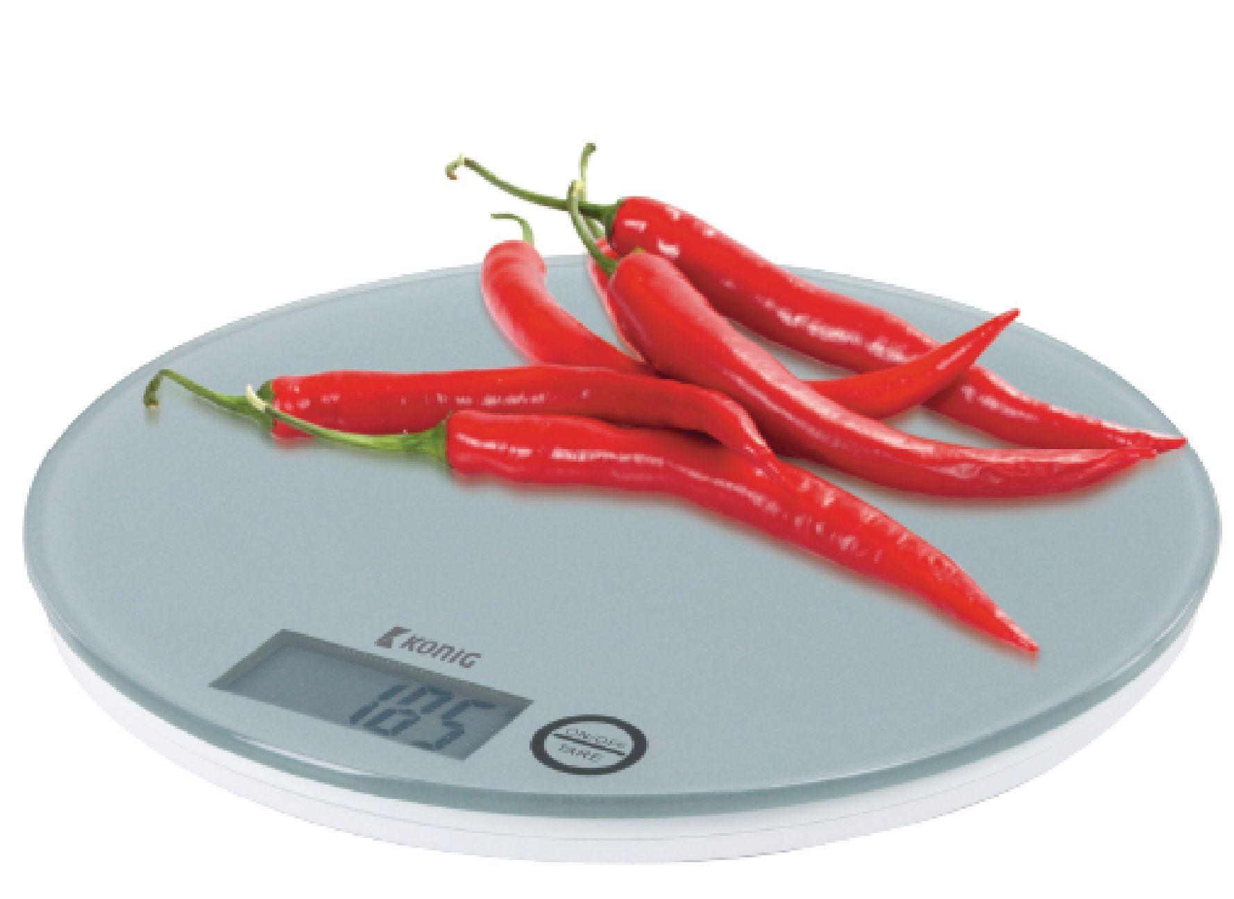 Kuchyňská digitální skleněná váha bílá König, HC-KS23N
