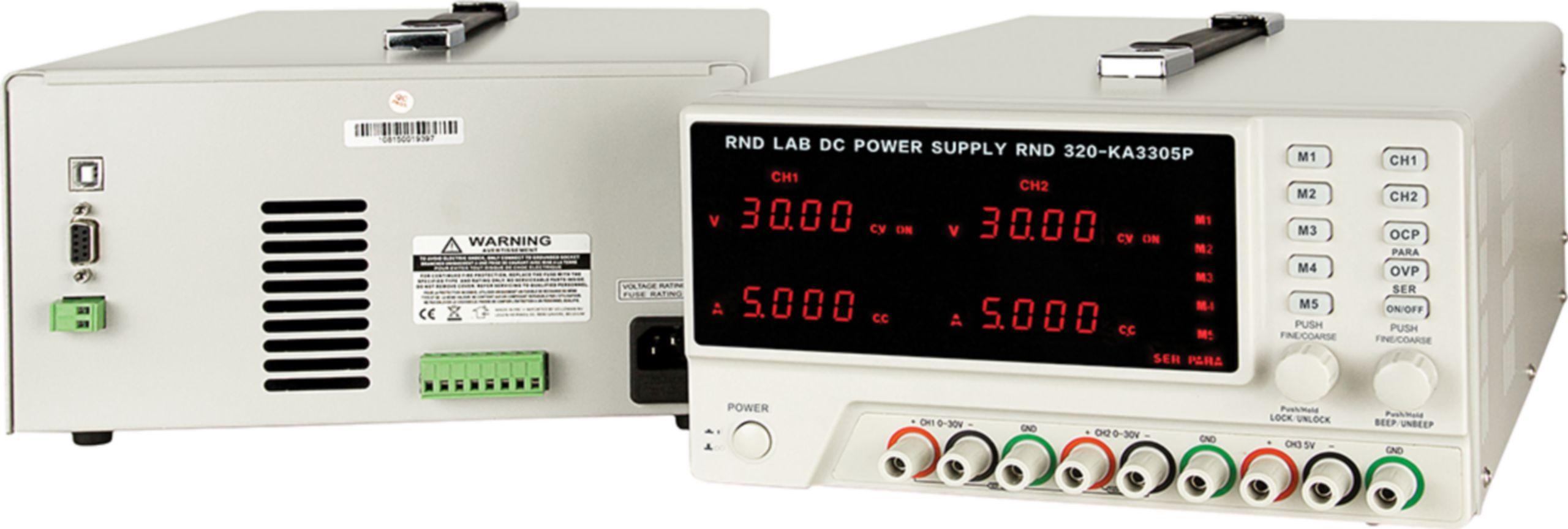 Programovatelný laboratorní napájecí zdroj, 5 pam., 3 kanál, 0÷30 VDC, 0÷5 A, 5 VDC /3 A