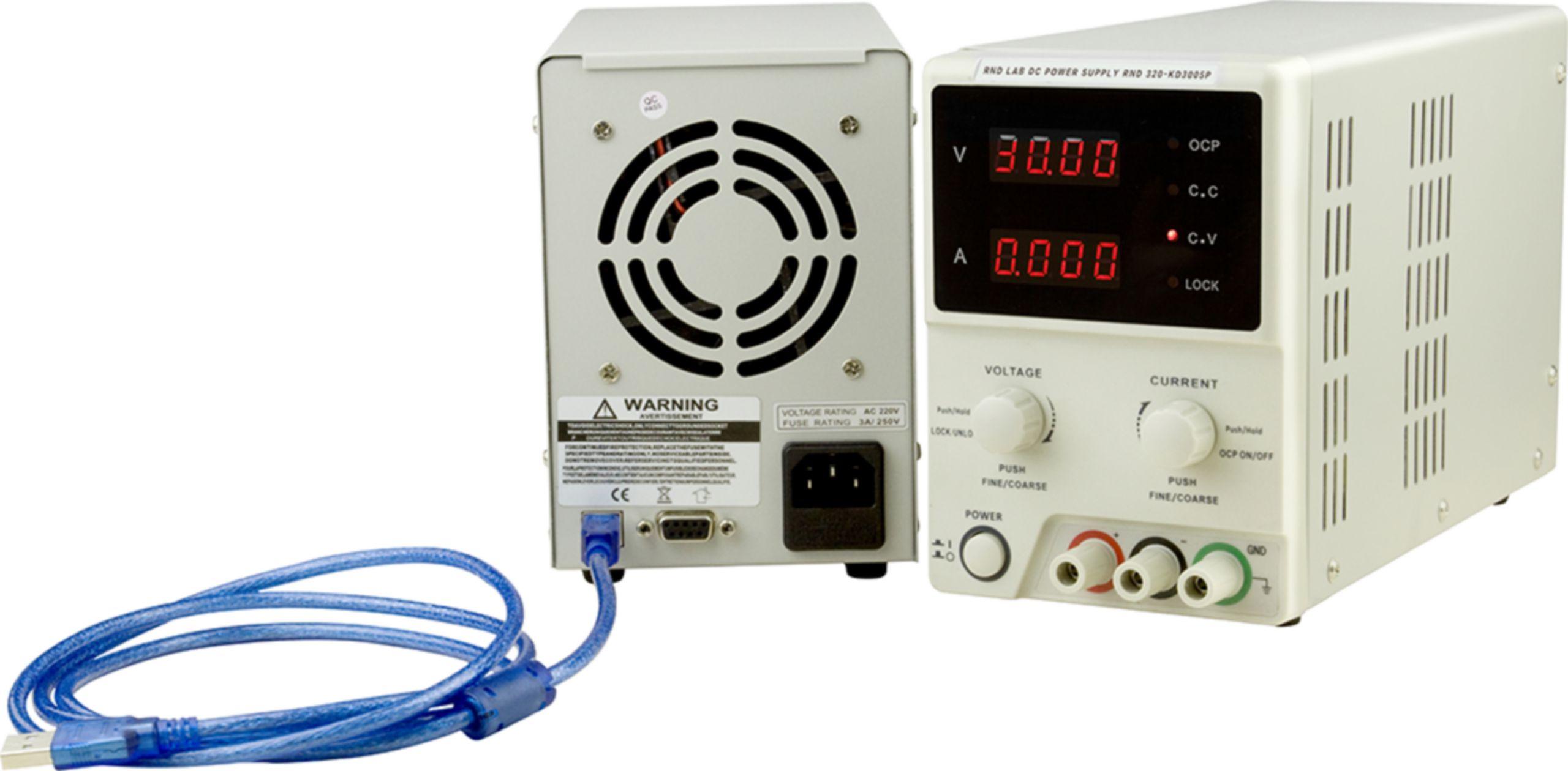 Programovatelný laboratorní napájecí zdroj,1 kanál, 0÷30 VDC, 0÷5 A
