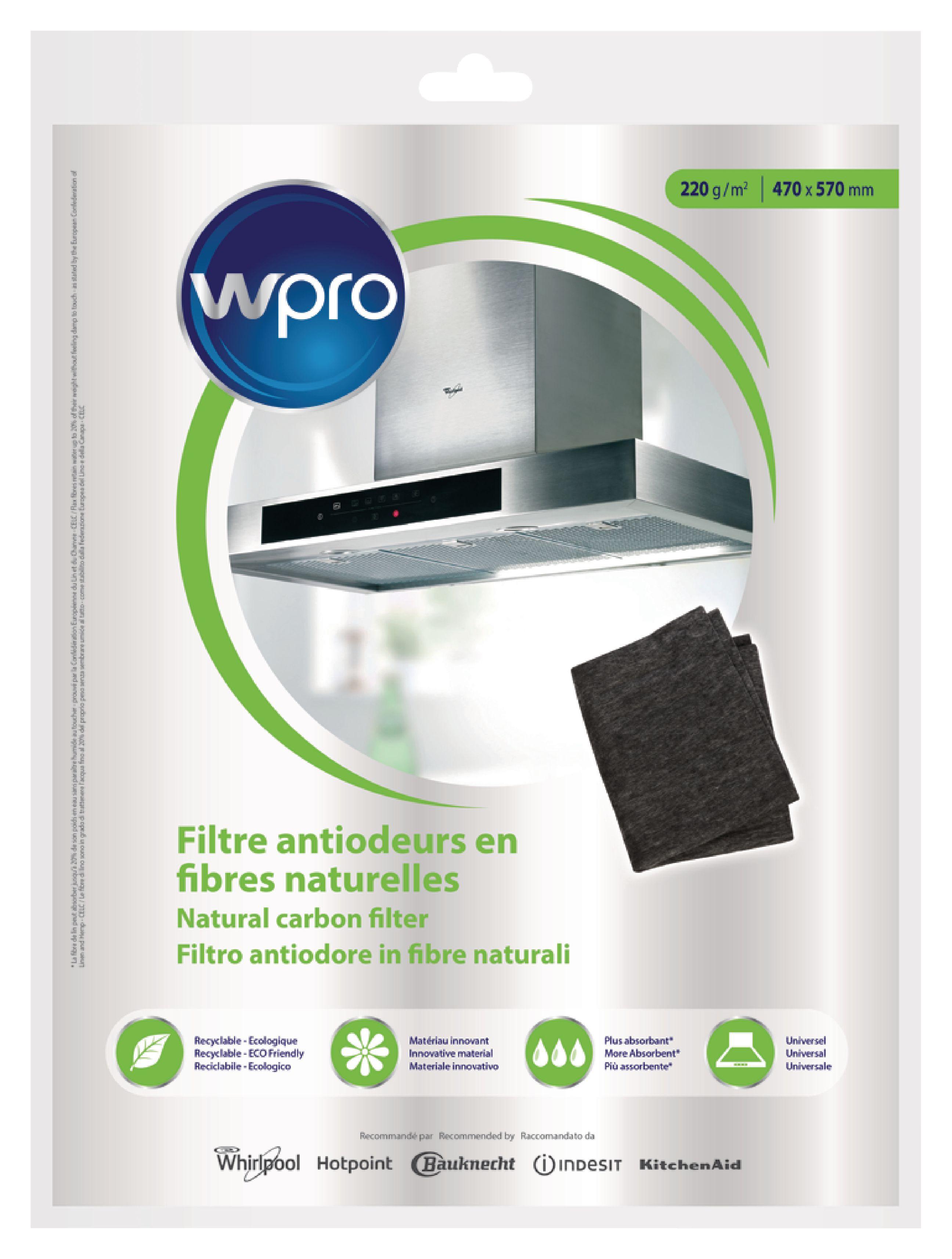 Uhlíkový filtr do digestoře, 57 x 47 cm Wpro 484000008650