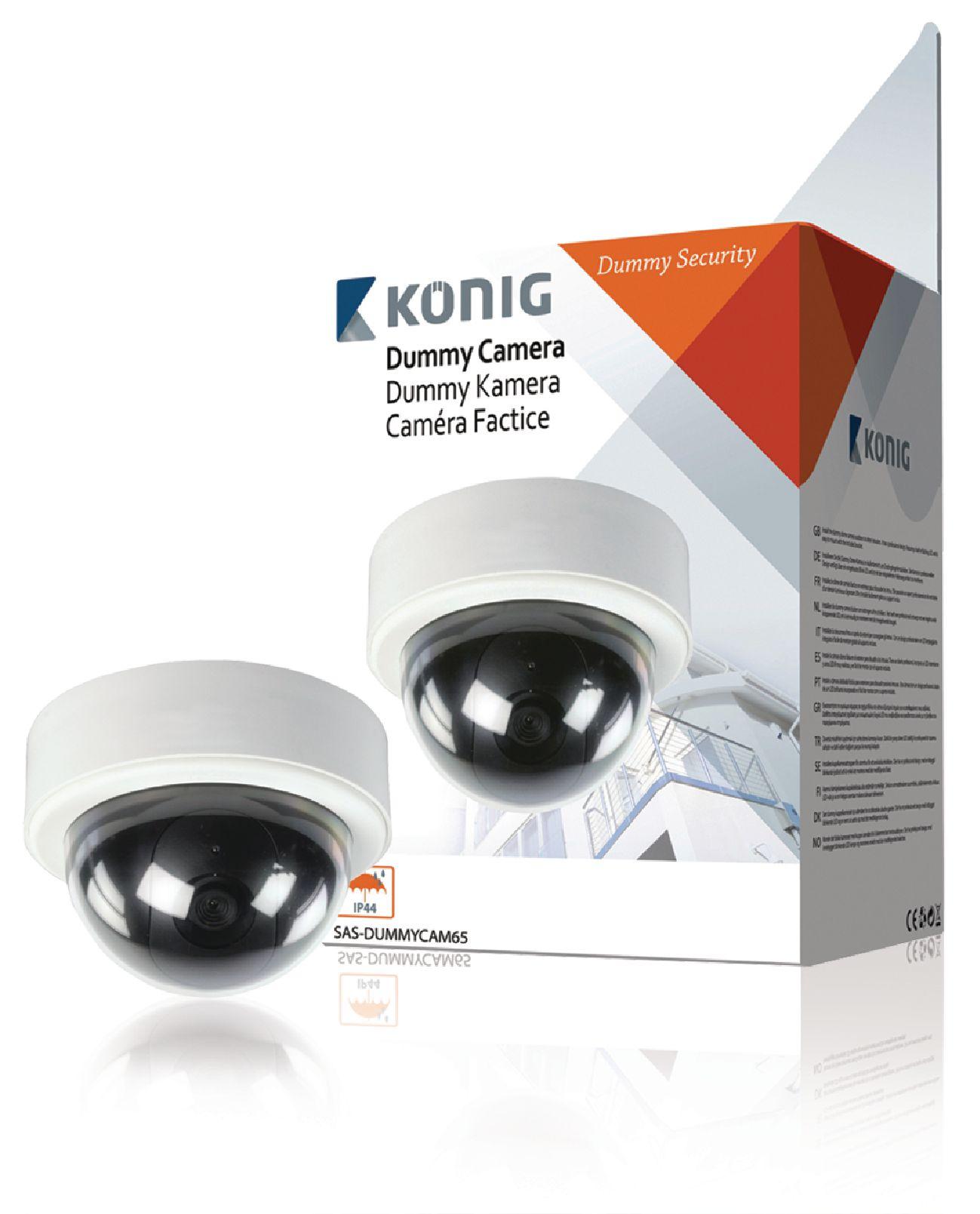 Atrapa venkovní bezpečnostní CCTV mini DOME kamery.