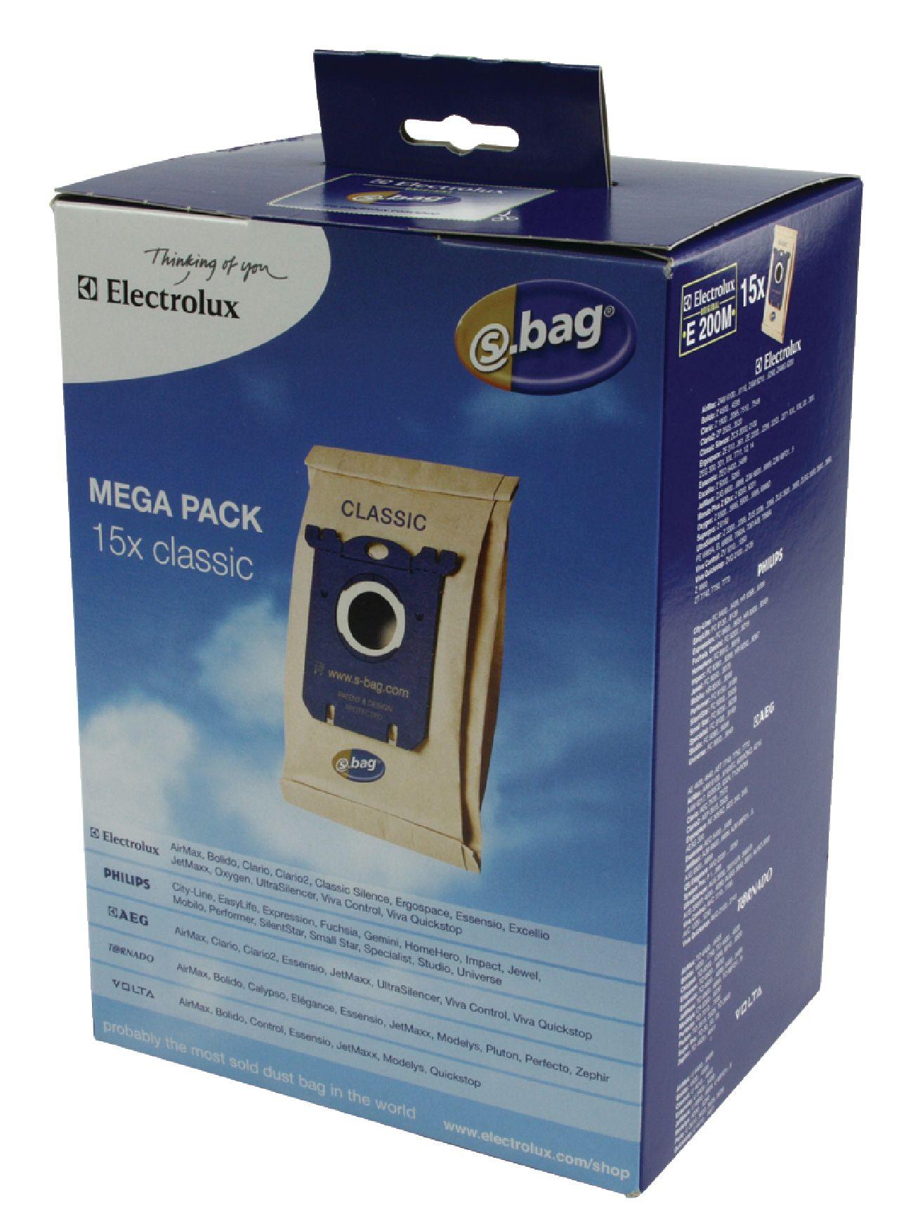 Sáčky Electrolux S-Bag E200M Classic, 15ks