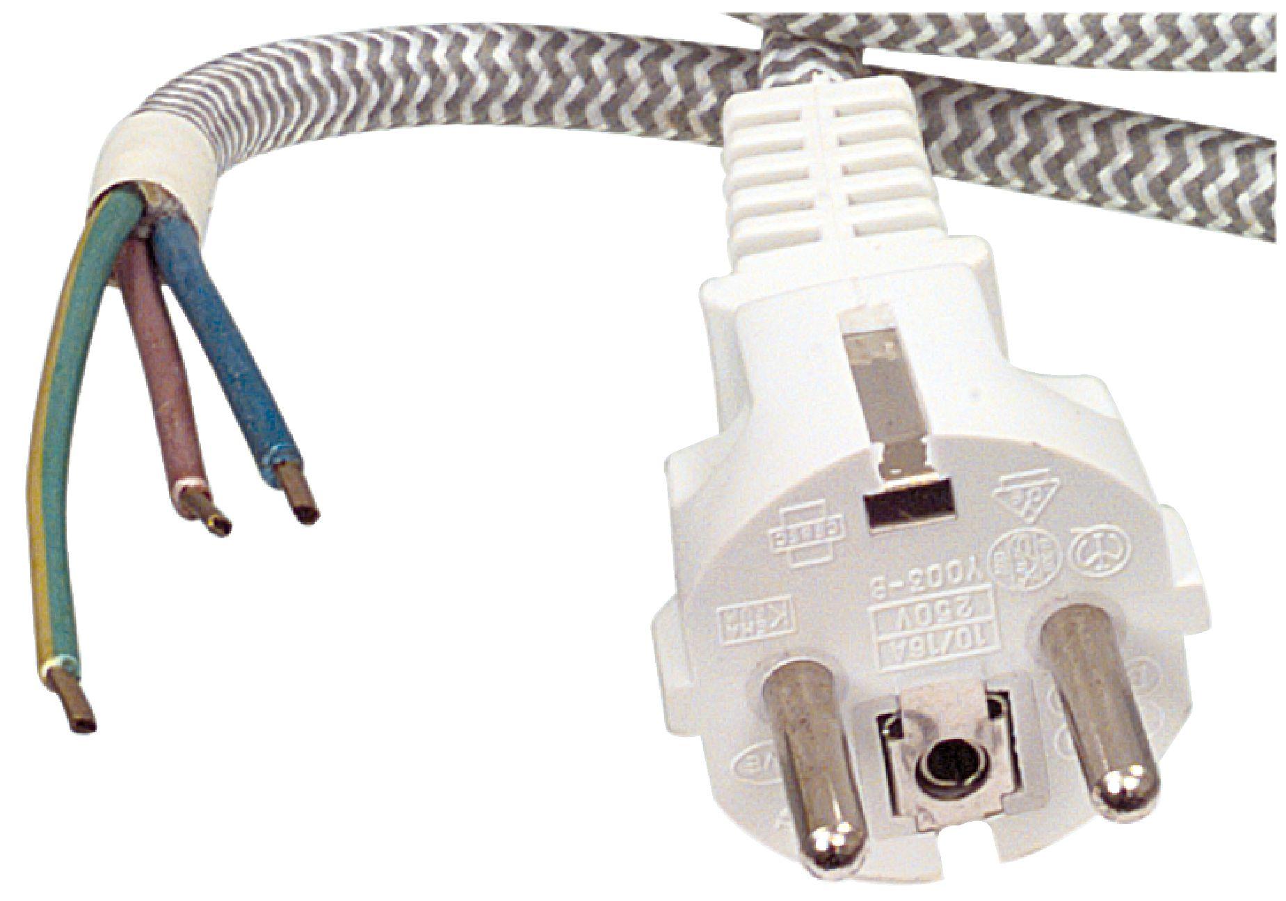 Napájecí flexo kabel s opletením 3 x 0.75 mm 3.00 m W8-90001