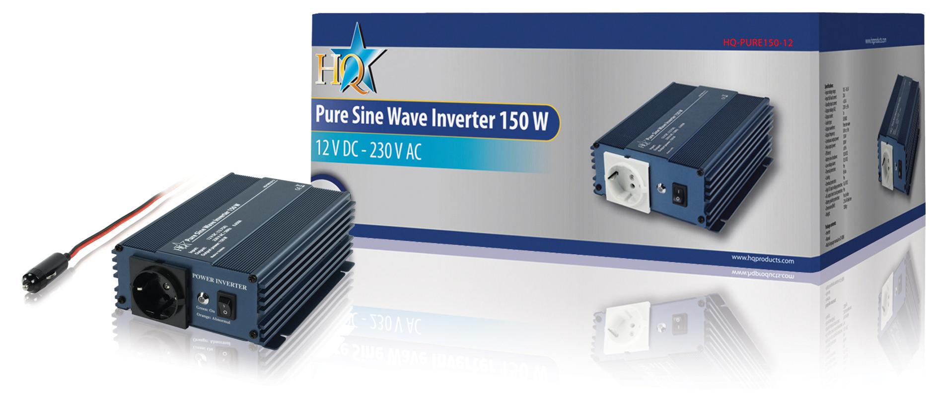 Měnič s Čistou Sinusoidou 12 VDC AC 230 V 150 W F (CEE 7/3)
