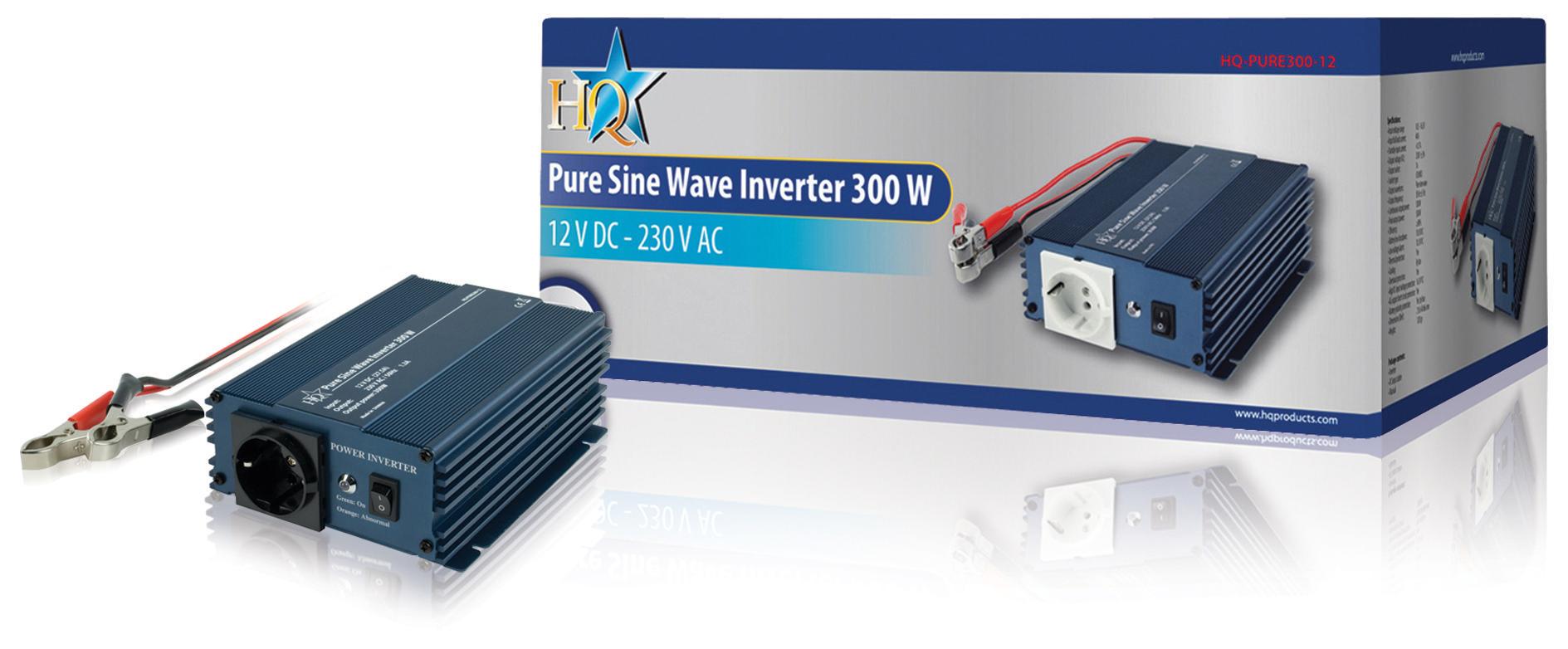 Měnič s Čistou Sinusoidou 12 VDC AC 230 V 300 W F (CEE 7/3)