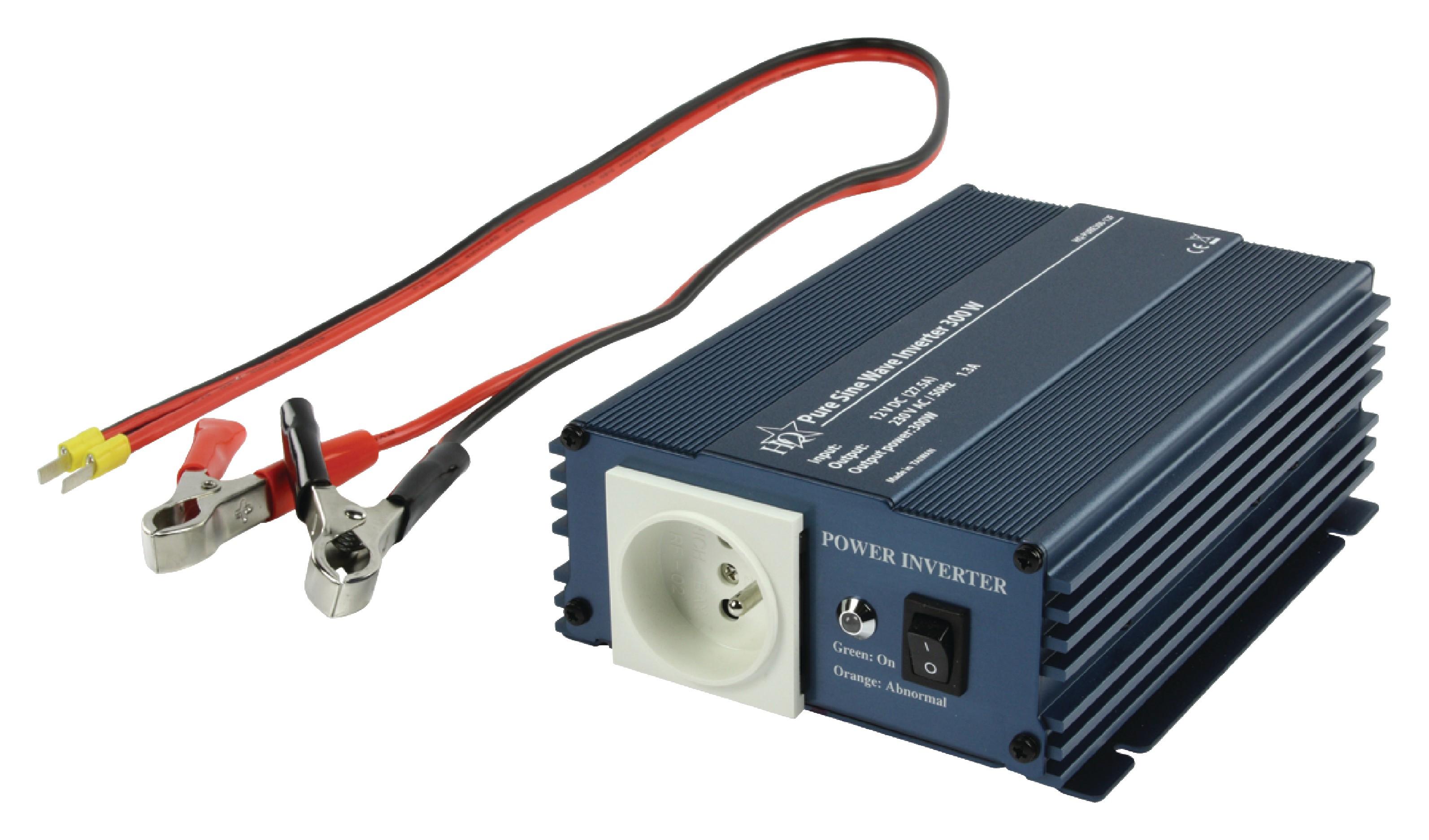 Měnič s Čistou Sinusoidou 12 VDC AC 230 V 300 W CZ