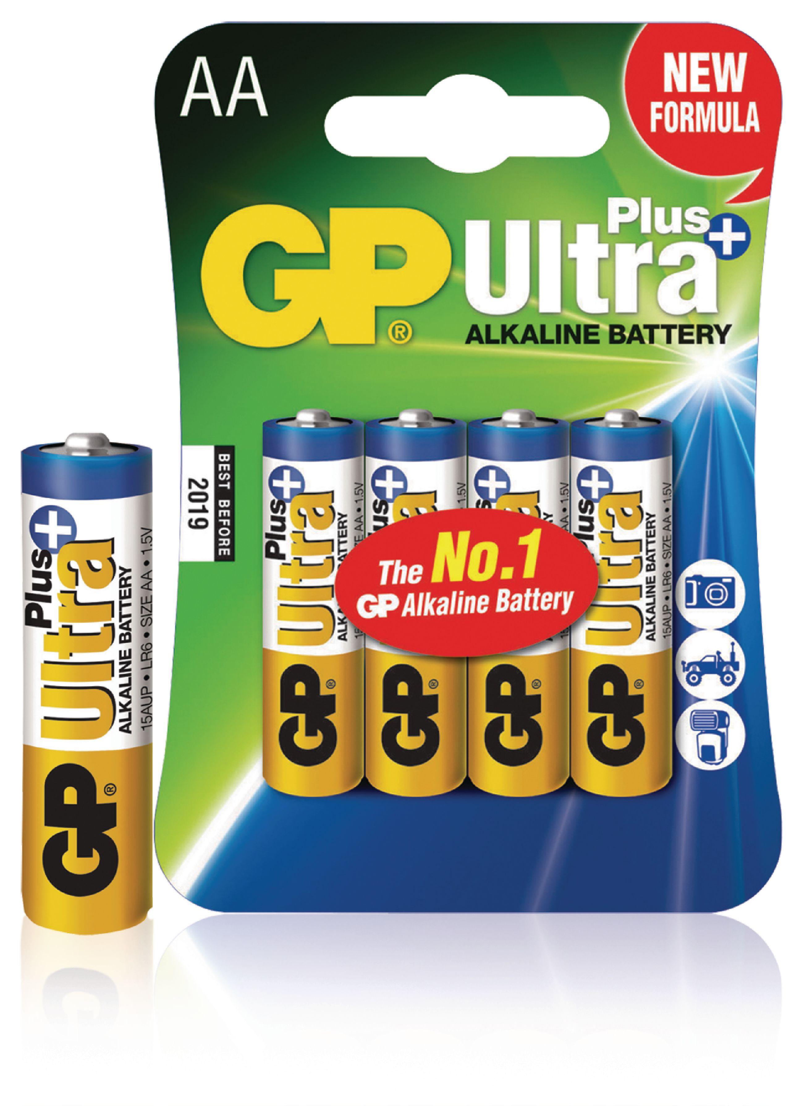 Alkalická baterie GP Ultra+ AA 1.5 V, 4ks