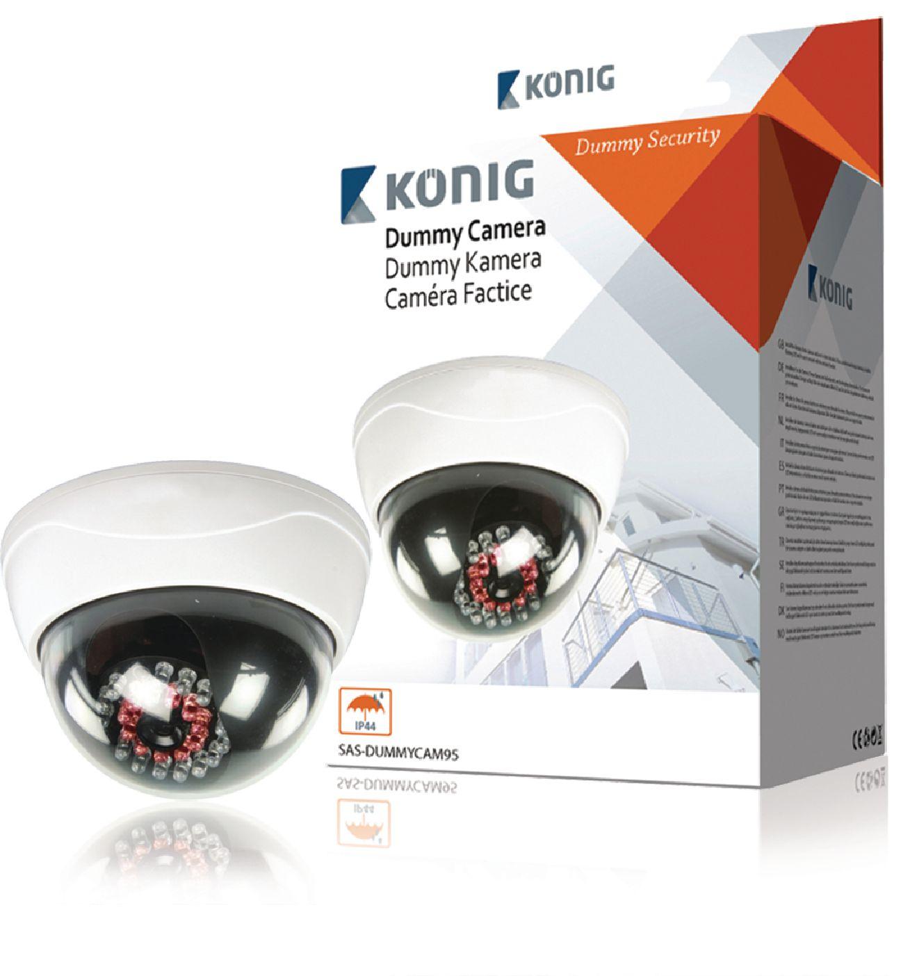 Atrapa venkovní bezpečnostní CCTV DOME kamery König SAS-DUMMYCAM95