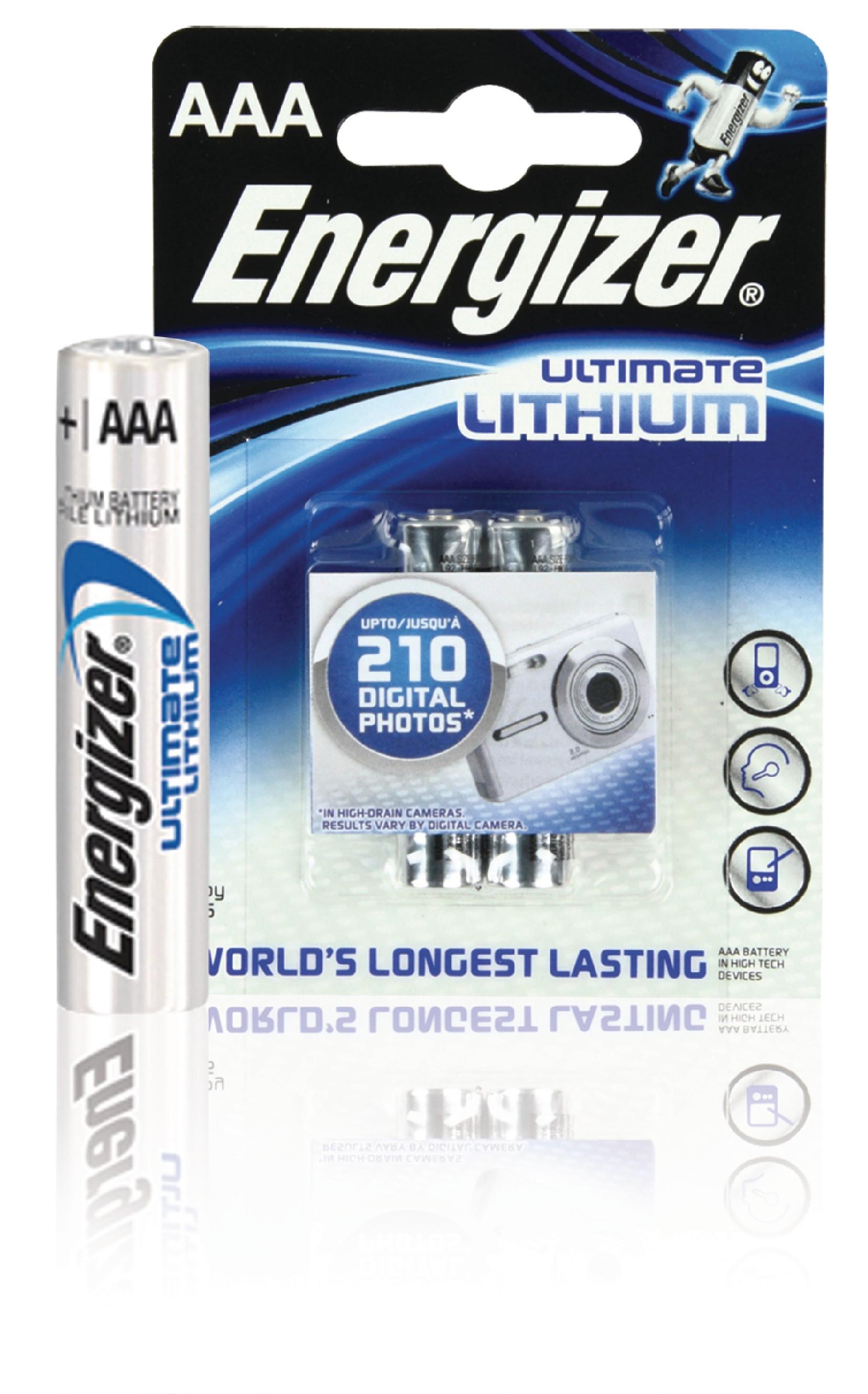 Lithiová baterie Energizer Ultimate AAA 1.5V, 2ks, ENLITHIUMAAAP2