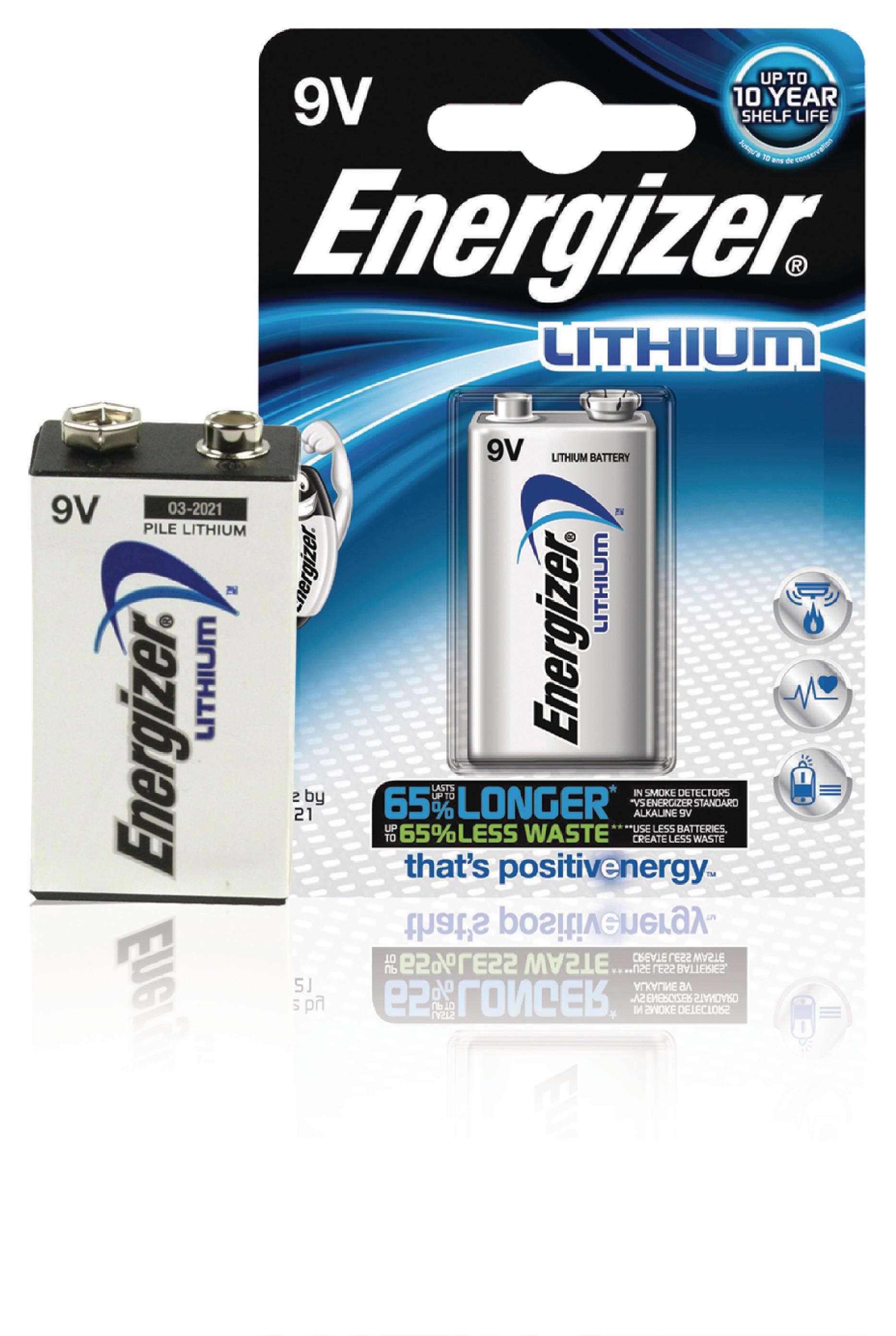 Lithiová baterie Energizer Ultimate 9V, 1ks, ENLITHIUM9VP1