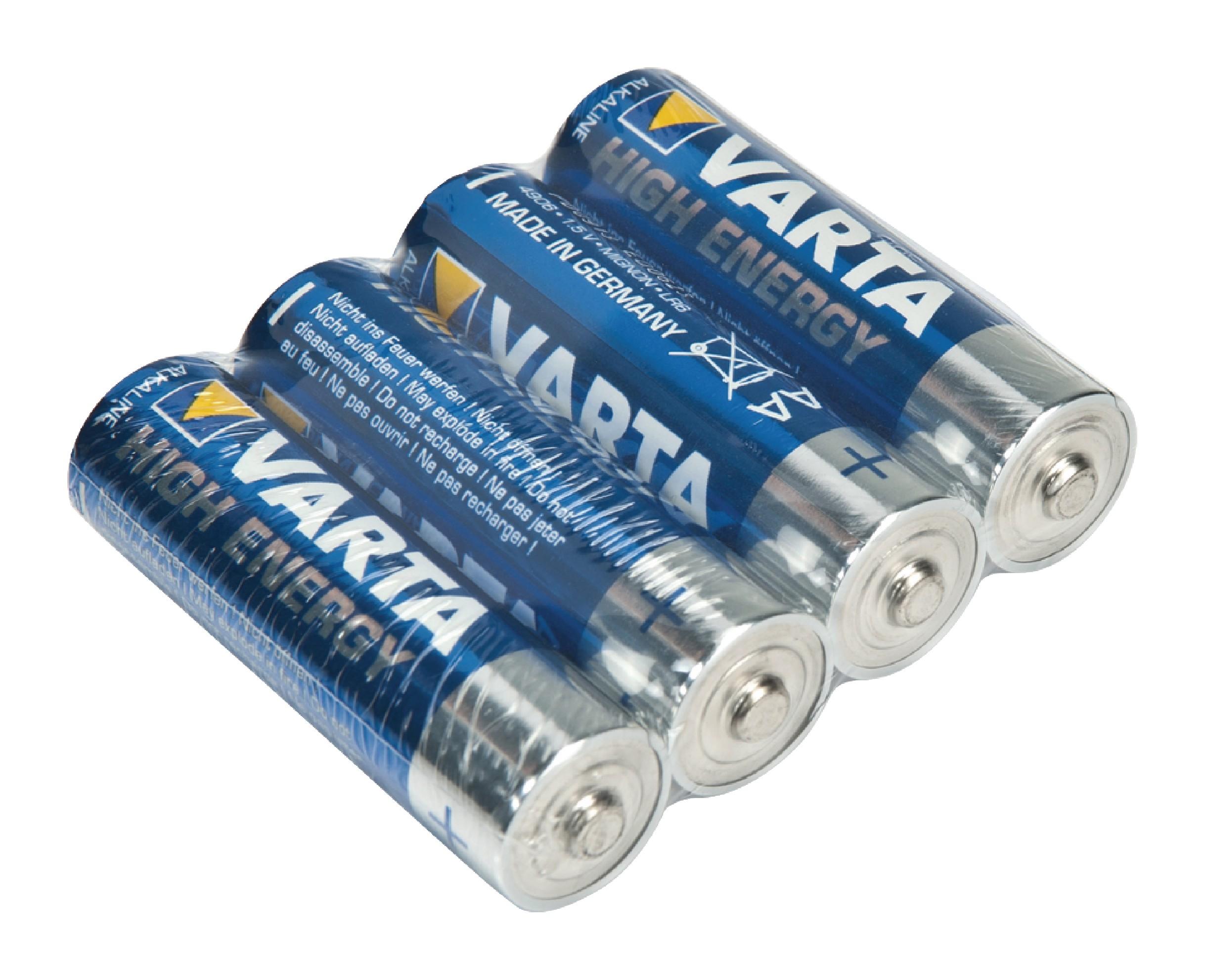 Alkalická baterie VARTA High Energy AA 1.5V, 4ks, VARTA-4906/TR