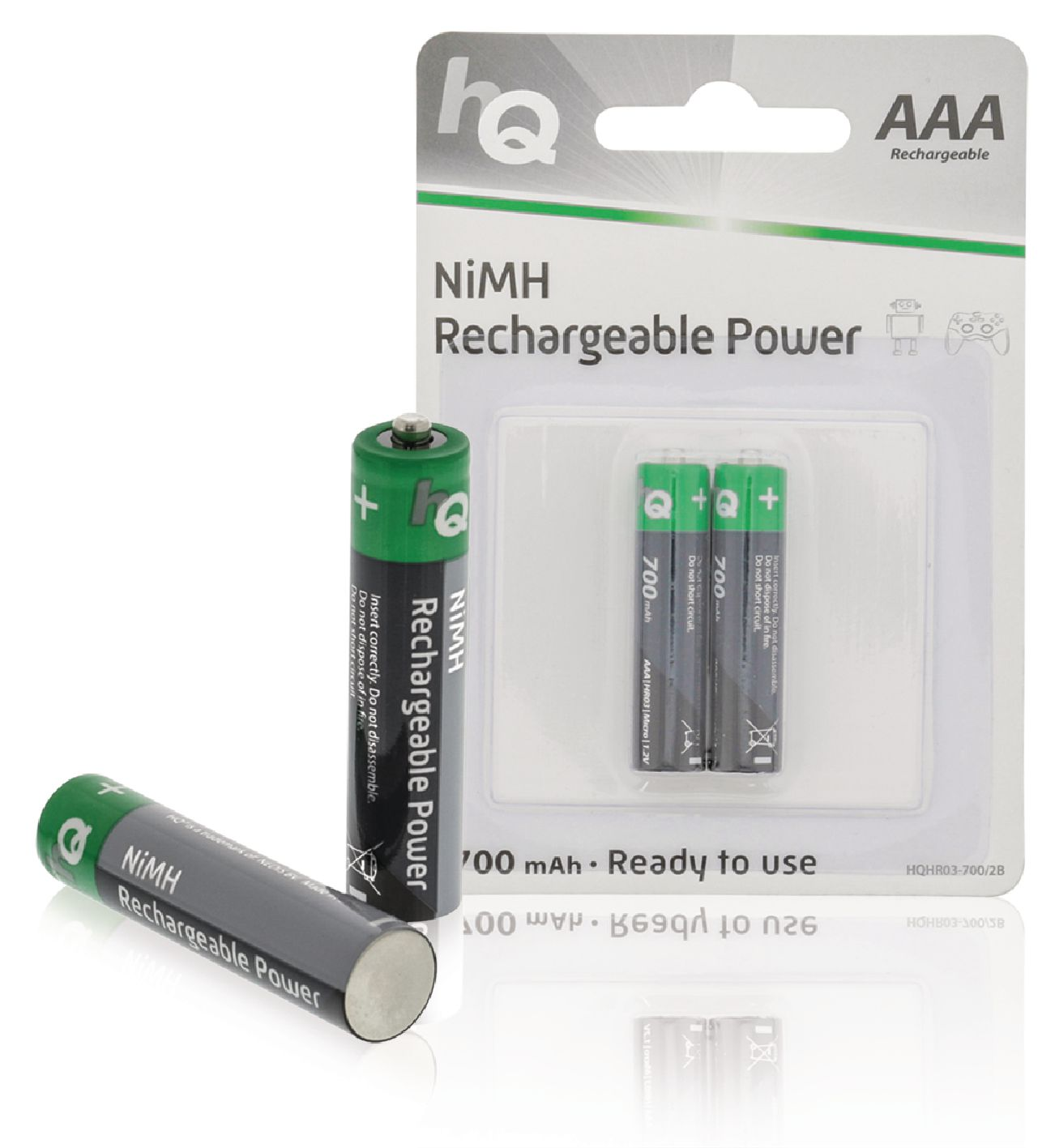 Nabíjecí baterie HQ NiMH AAA 1.2V 700mAh - 2ks, HQHR03-700/2B