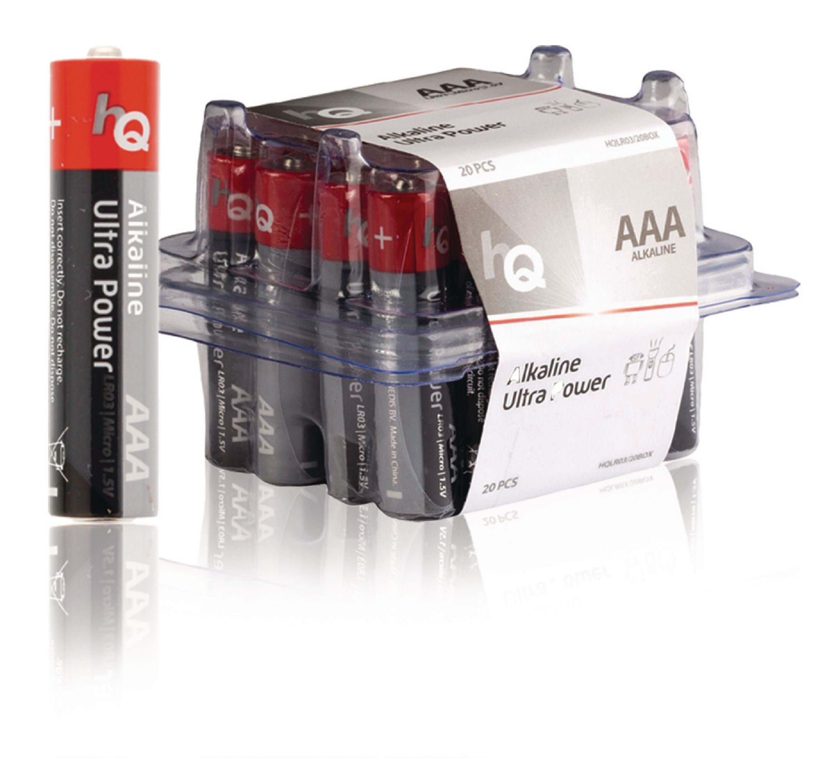 Alkalická baterie HQ Ultra Power AAA 1.5 V, 20ks, HQLR03/20BOX