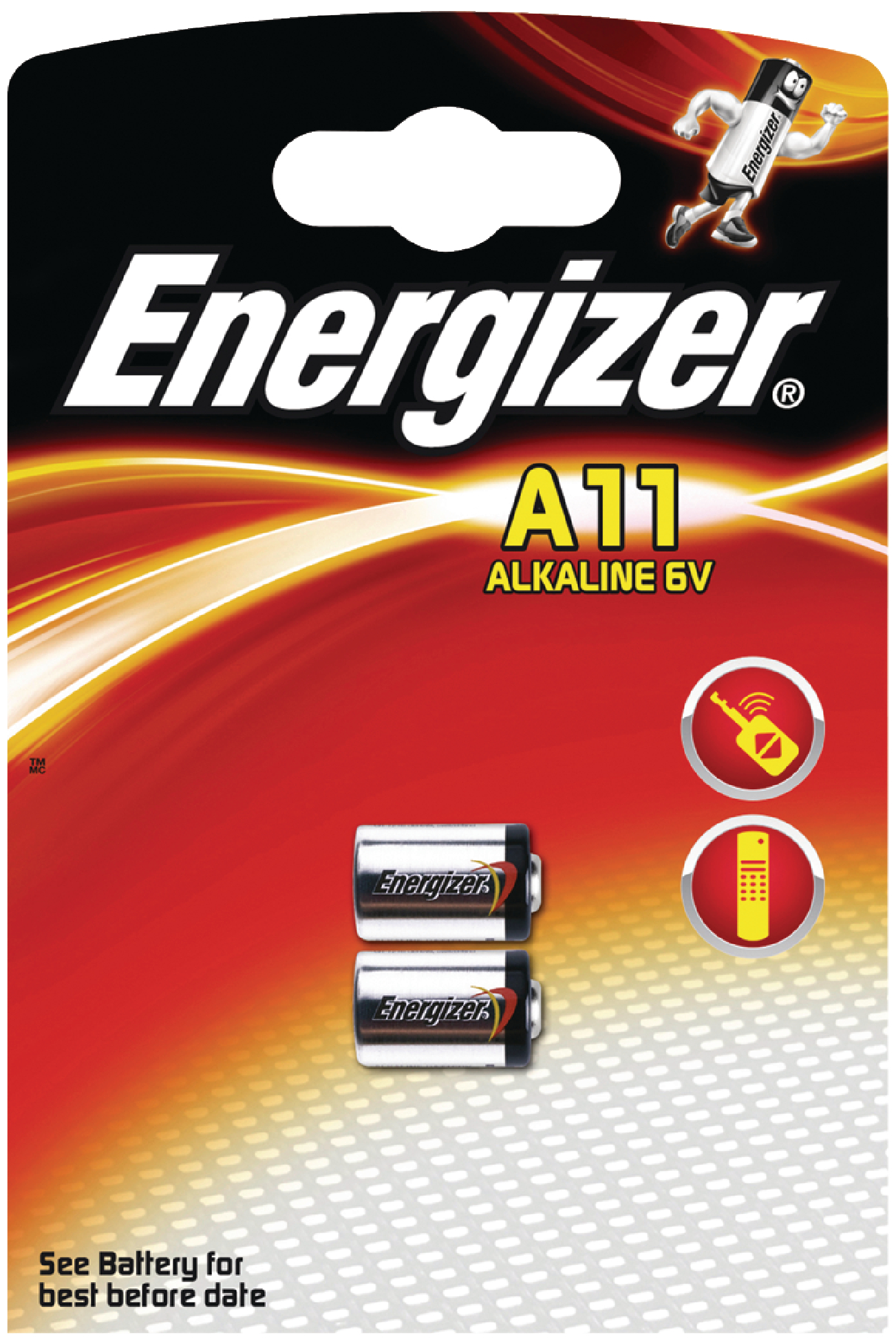 Alkalická baterie Energizer 11A 6 V, 2ks, EN-639449