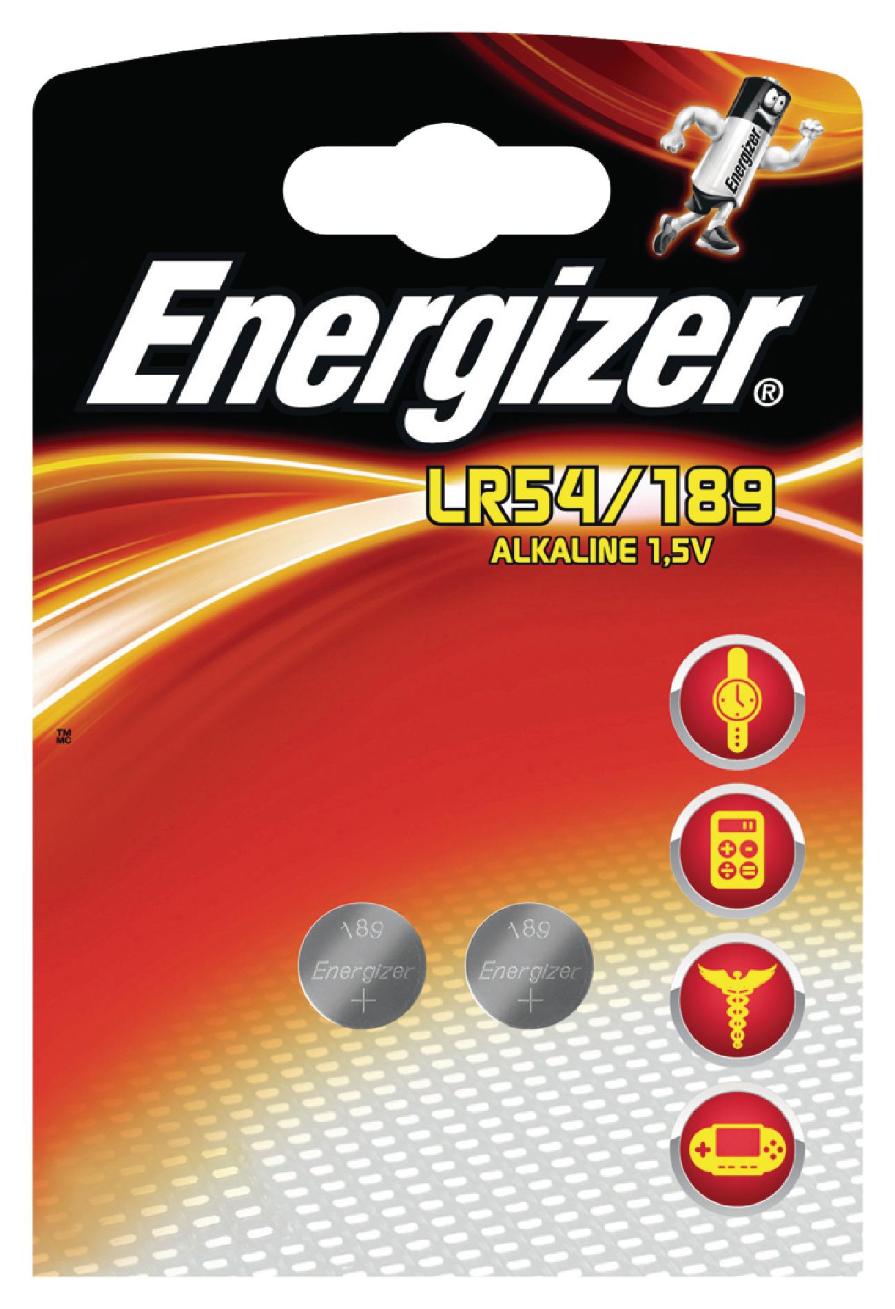 Alkalická knoflíková baterie LR54/189 1.5V, 2ks, EN-639320