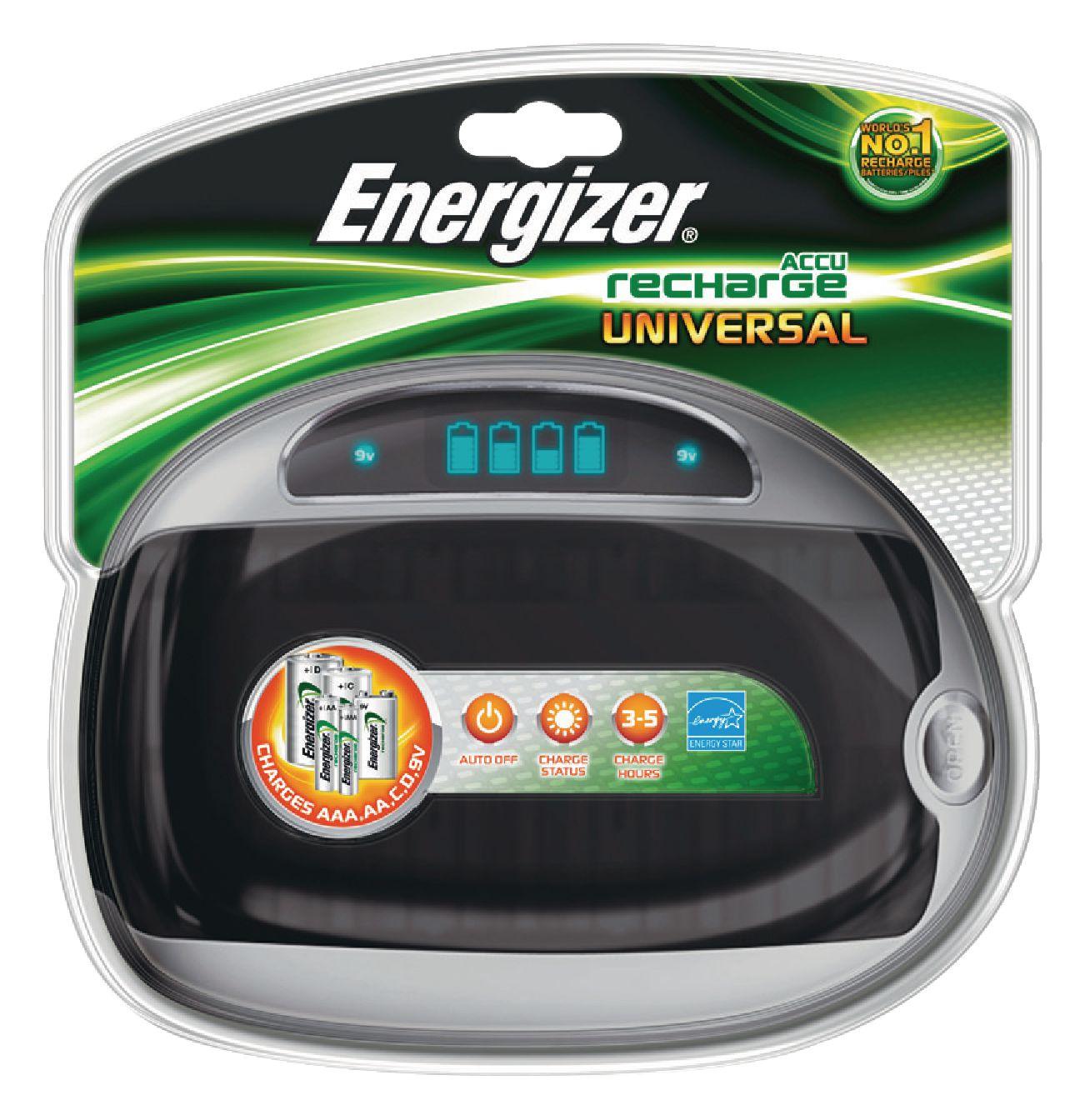 Nabíječka NiMH baterií AA/AAA/C/D/E NiMh Energizer Universal Charger EN-632959