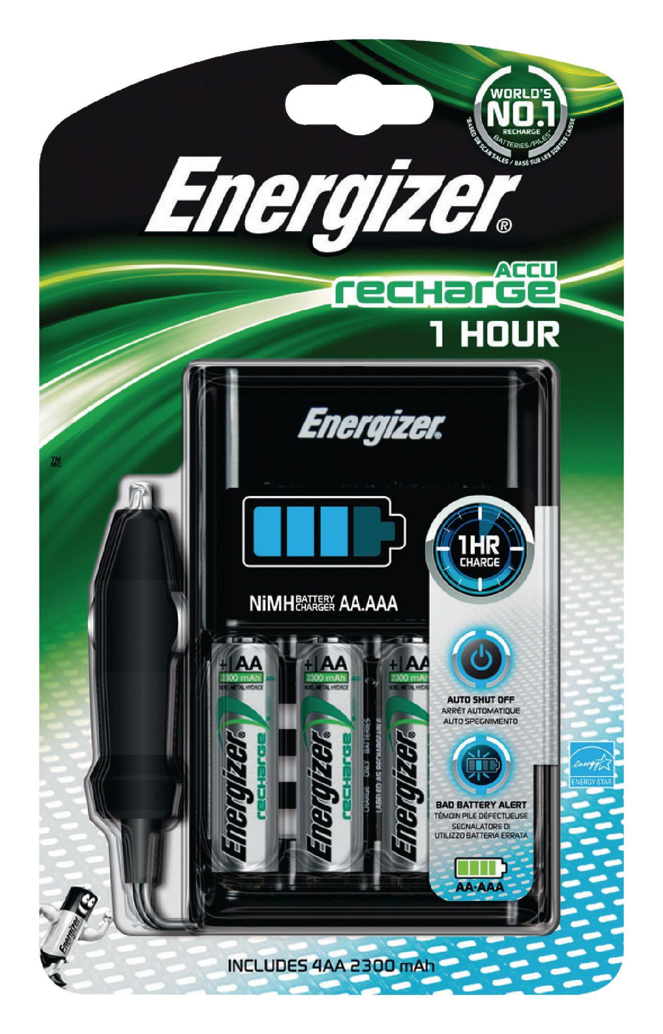 Nabíječka NiMH baterií + 4x AA/HR6 2300 mAh Energizer 1 Hour Charger EN-638893