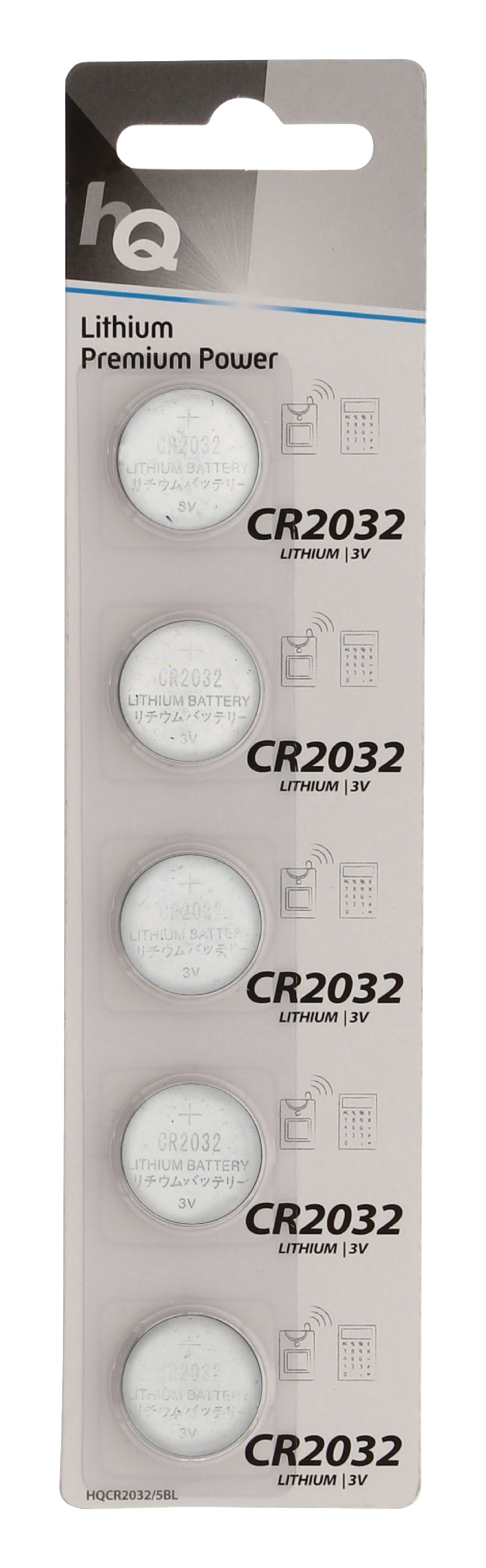 HQ lithiové knoflíkové baterie CR2032