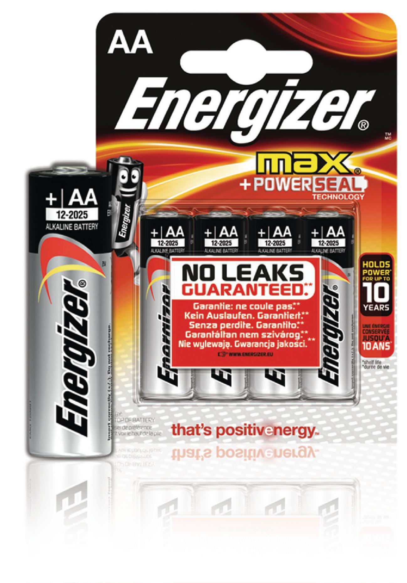 Alkalická baterie Energizer Max AA 1.5V, 4ks, EN-E300112500