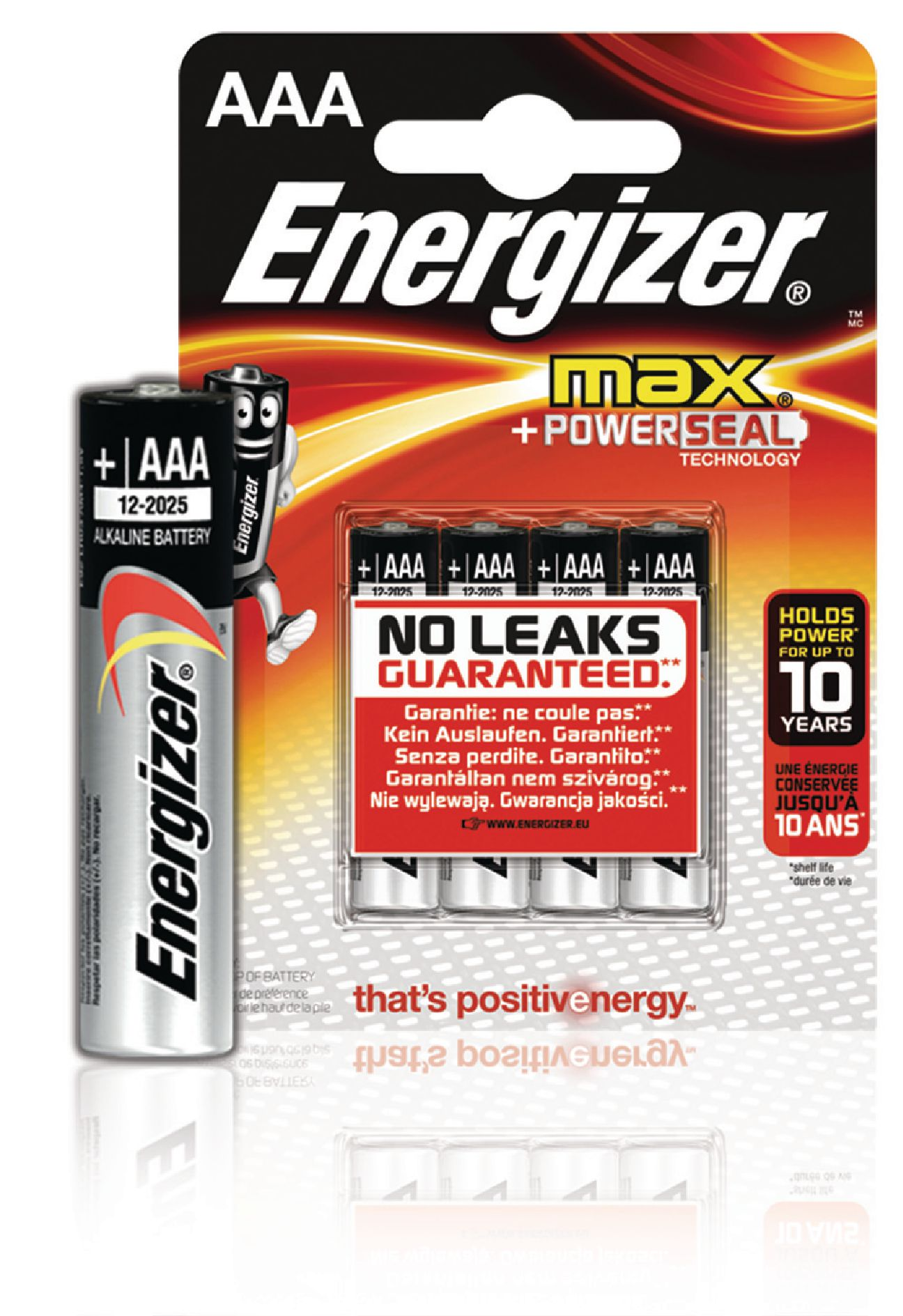 Alkalická baterie Energizer Max AAA 1.5V, 4ks, EN-E300124200