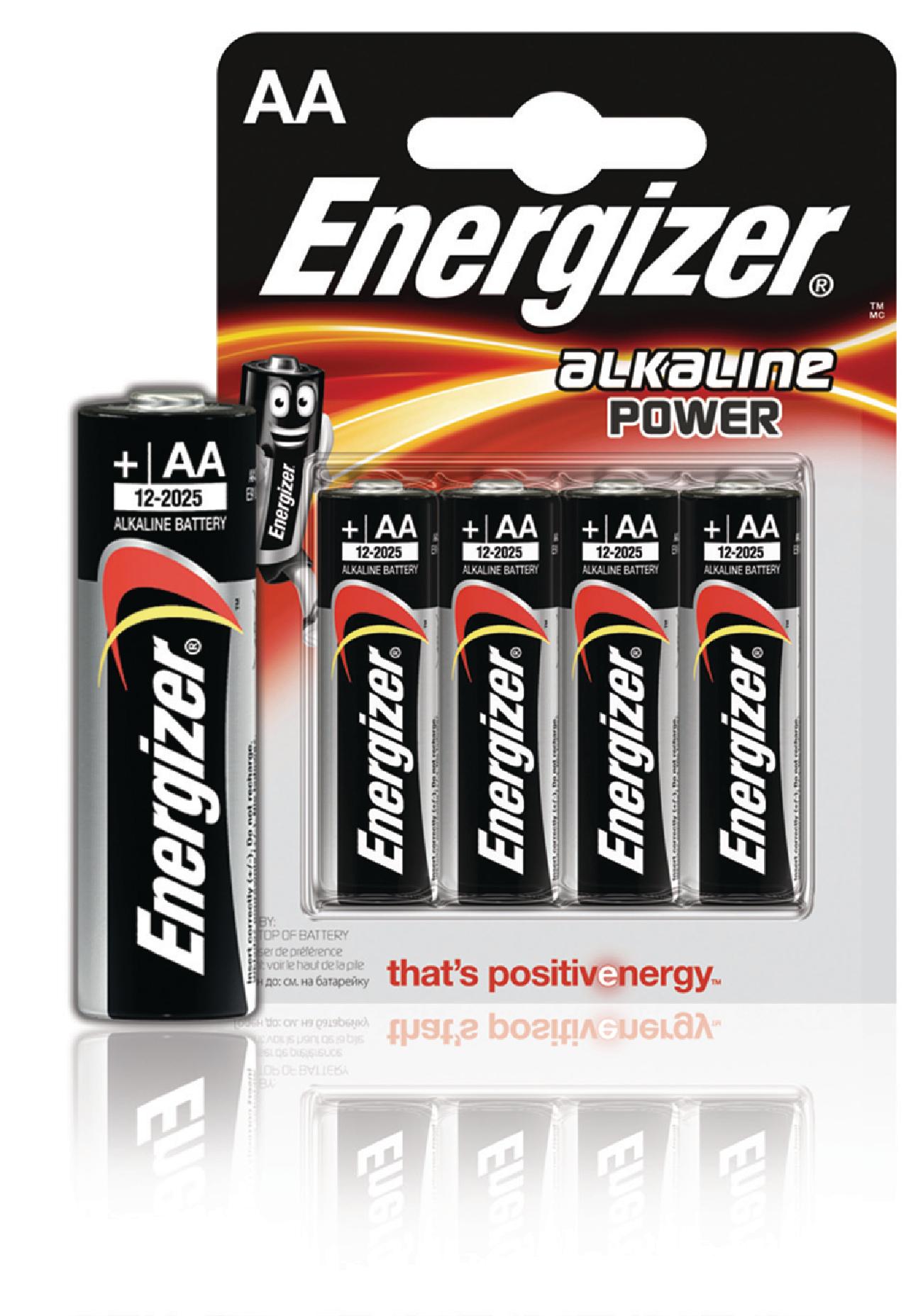 Alkalická baterie Energizer Power AA 1.5V, 4ks, EN-E300132900