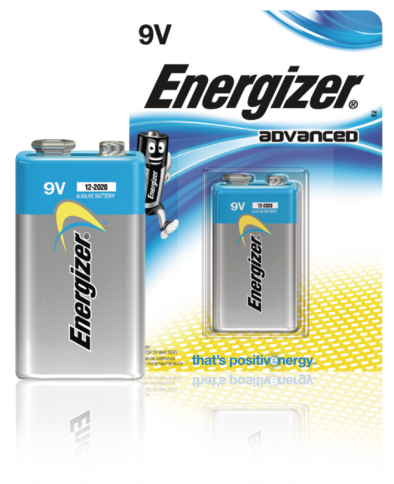 Alkalická baterie Energizer Advanced 9 V, 1ks, EN-53541037200