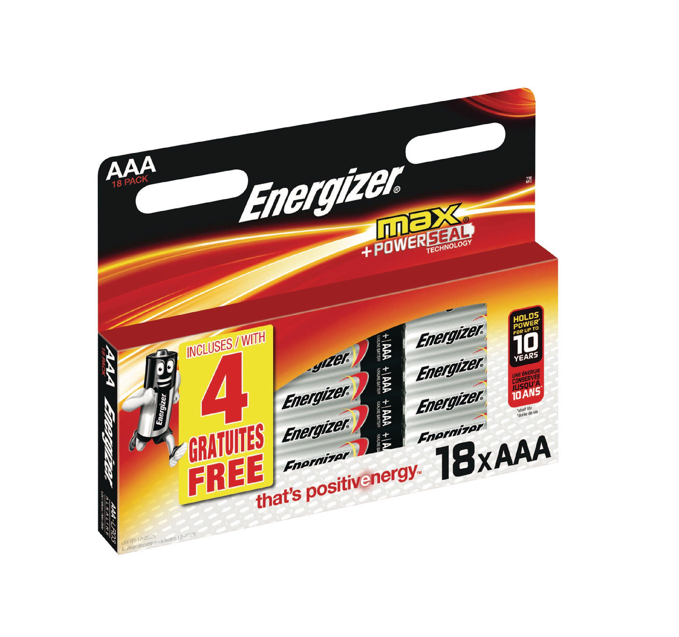 Alkalická baterie Energizer Max AAA 1.5V, 18ks, EN-53541412700