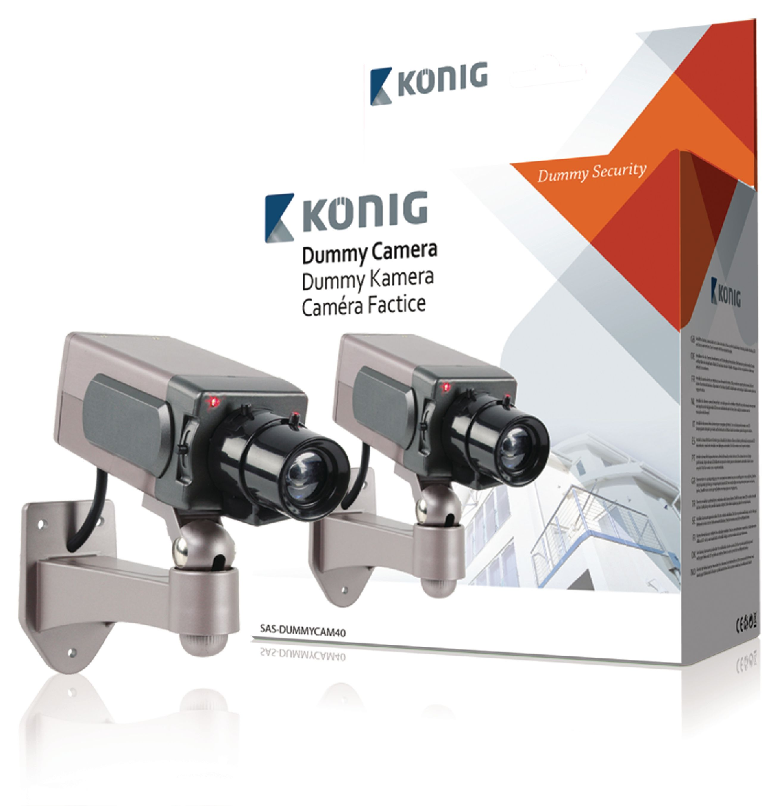 Atrapa venkovní bezpečnostní kamery König SAS-DUMMYCAM40