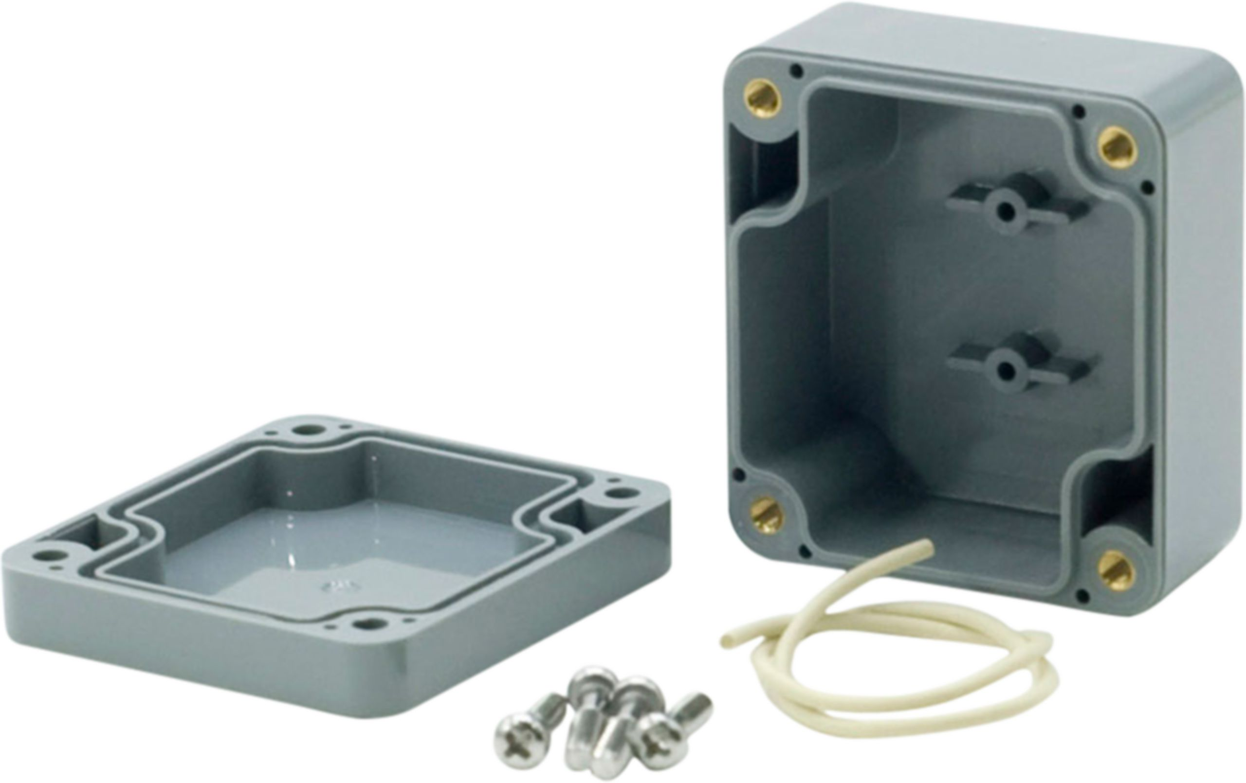 Krabička ABS plast, IP 65, tmavě šedá 52 x 50 x 35 mm