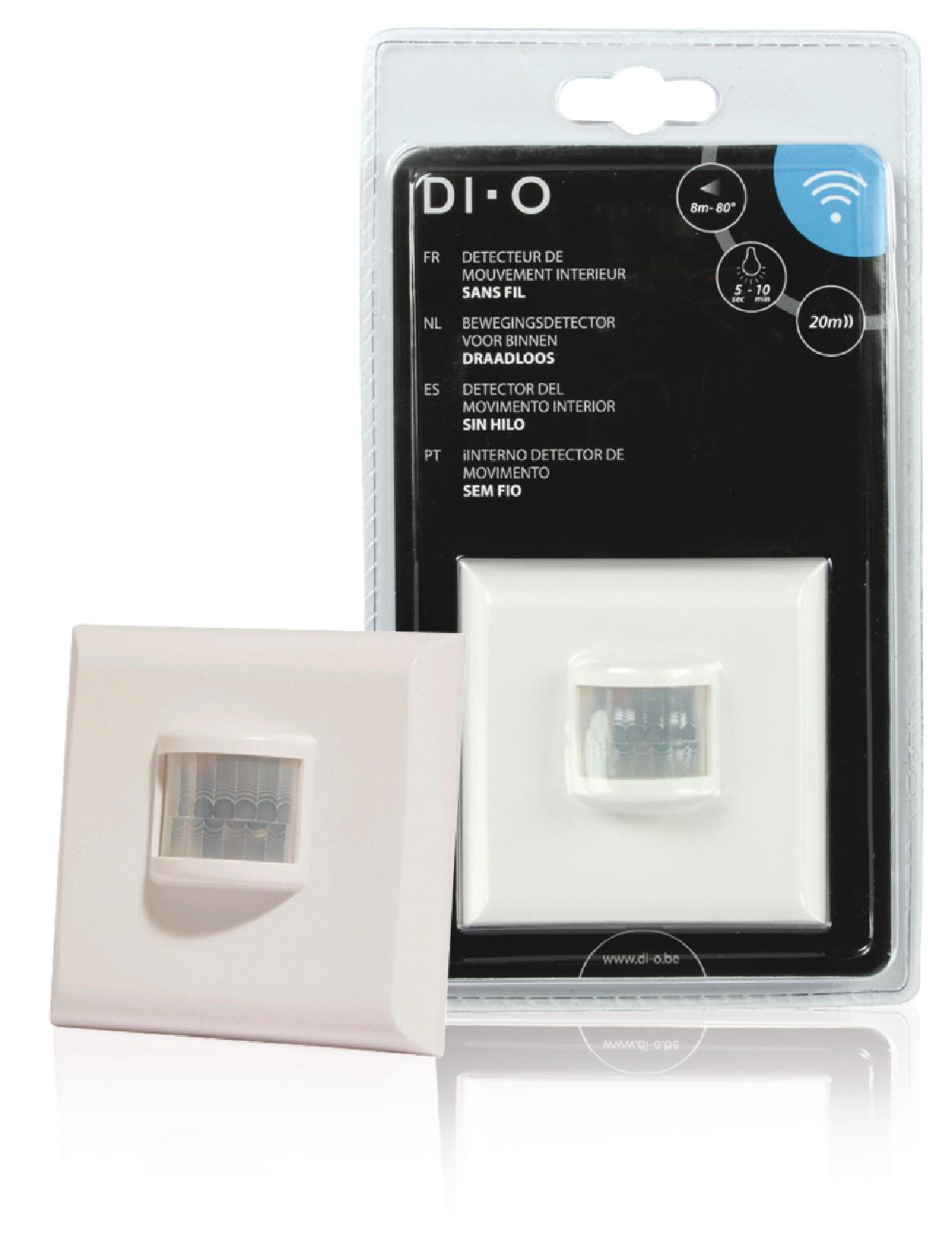 Nástěnné bezdrátové čidlo pohybu s časovačem DIO-DOMO23