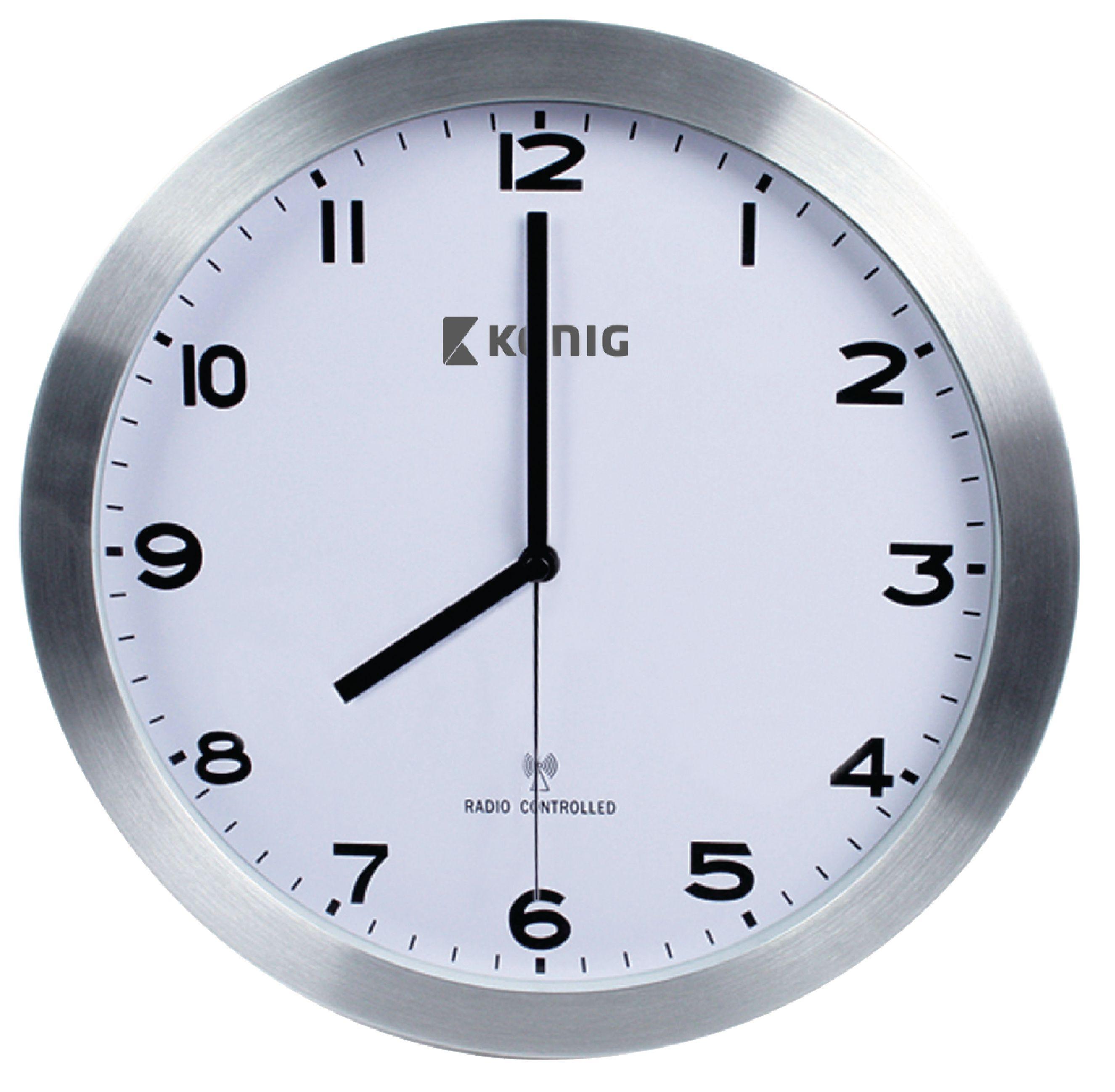 Rádiem řízené nástěnné hodiny 30 cm König KN-CL20N