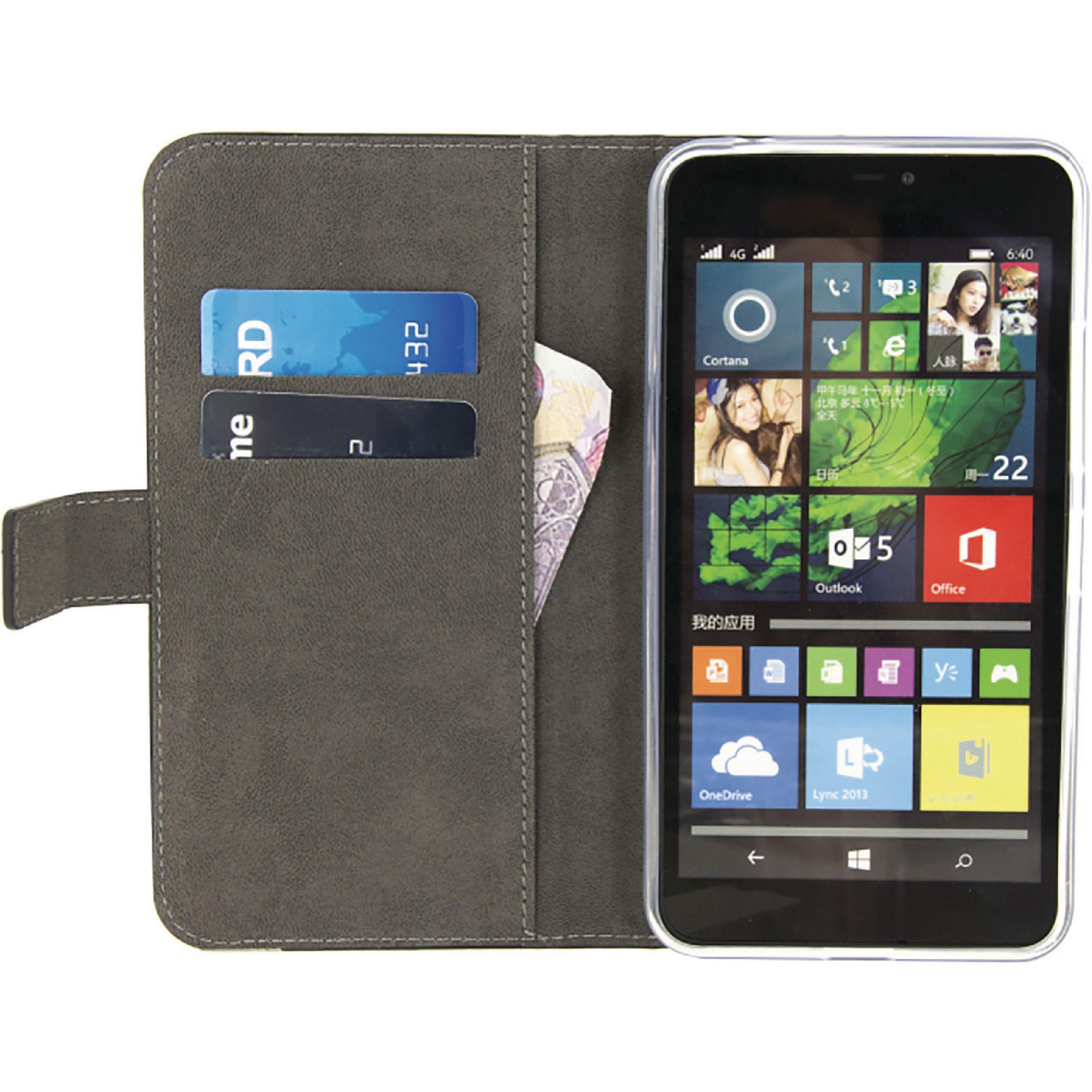 Mobilize peněženkové gelové pouzdro pro Microsoft Lumia 640 XL černé