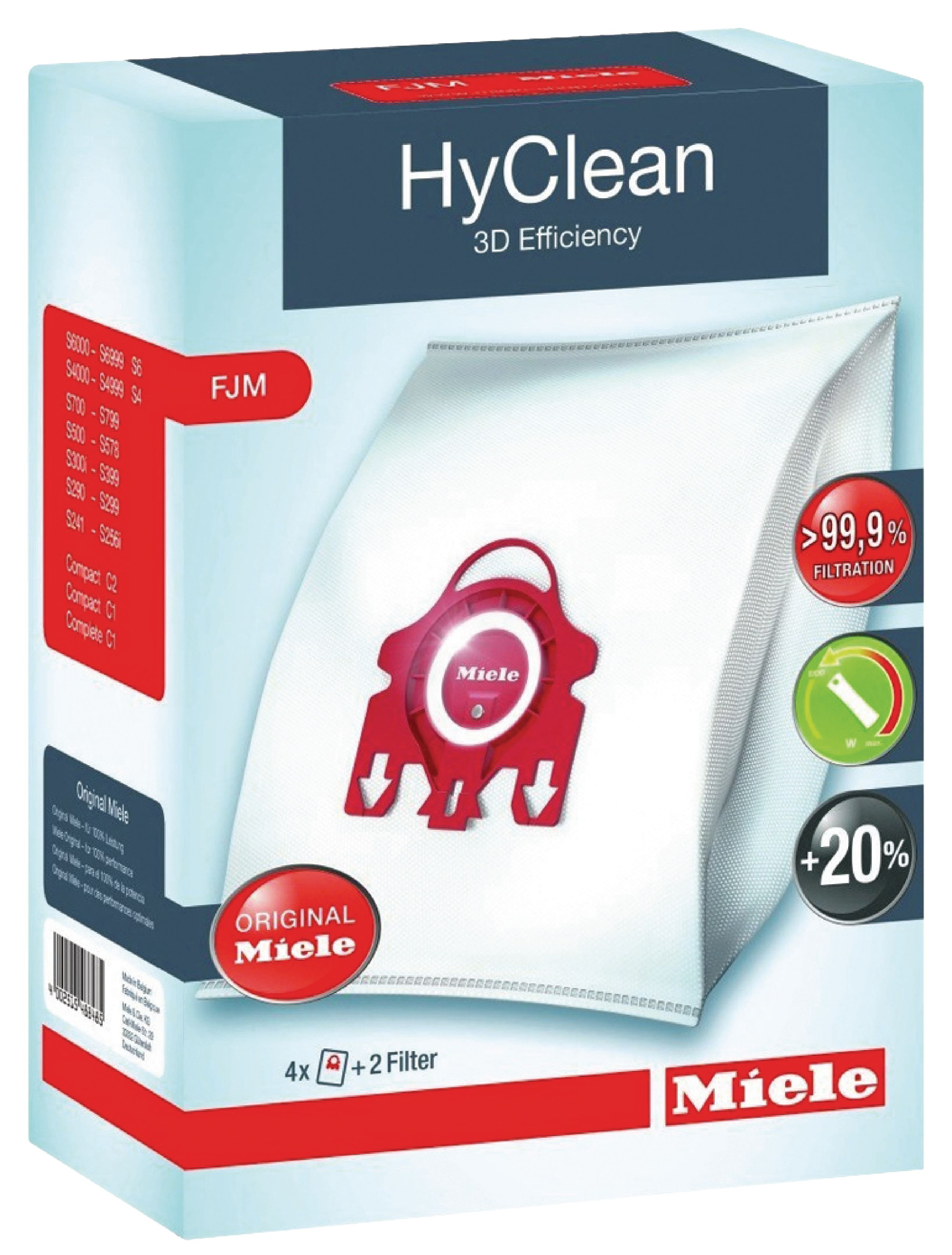 Sáčky Miele HyClean 3D Efficiency FJM, 4ks 9917710