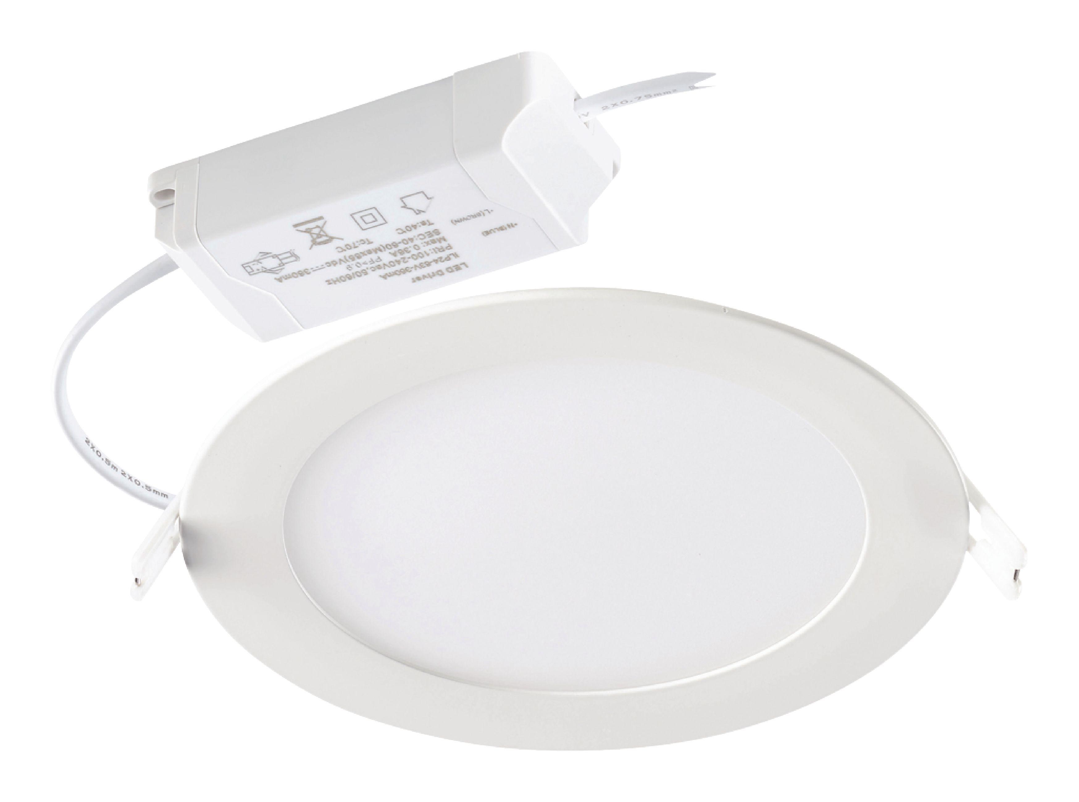 Podhledové svítidlo kulatý LED panel 12W, 4000K, 1000 lm, stmívatelné Sylvania 0053313